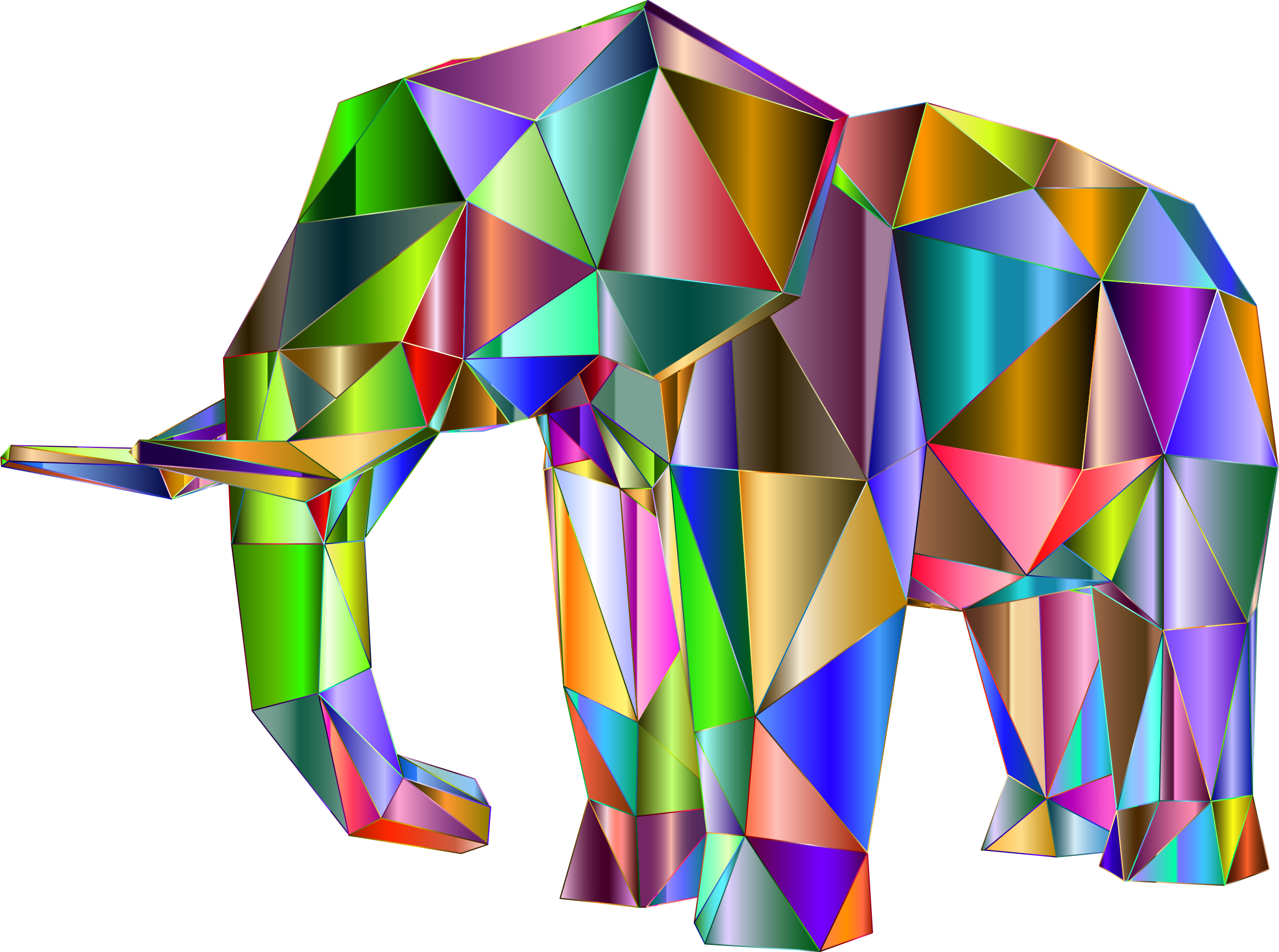 Prismatic Low Poly Elephant 2 by GDJ