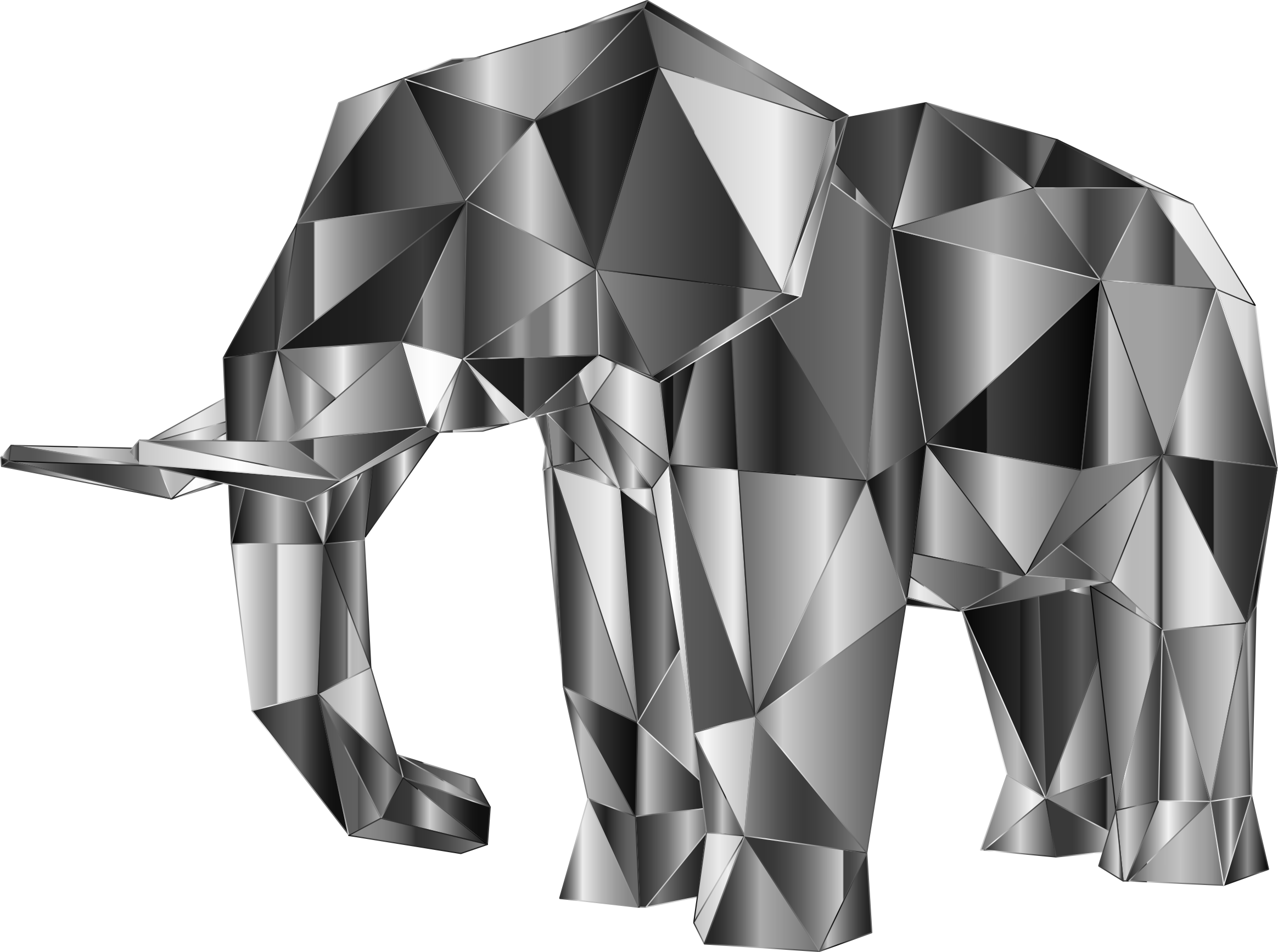 Prismatic Low Poly Elephant 3 by GDJ