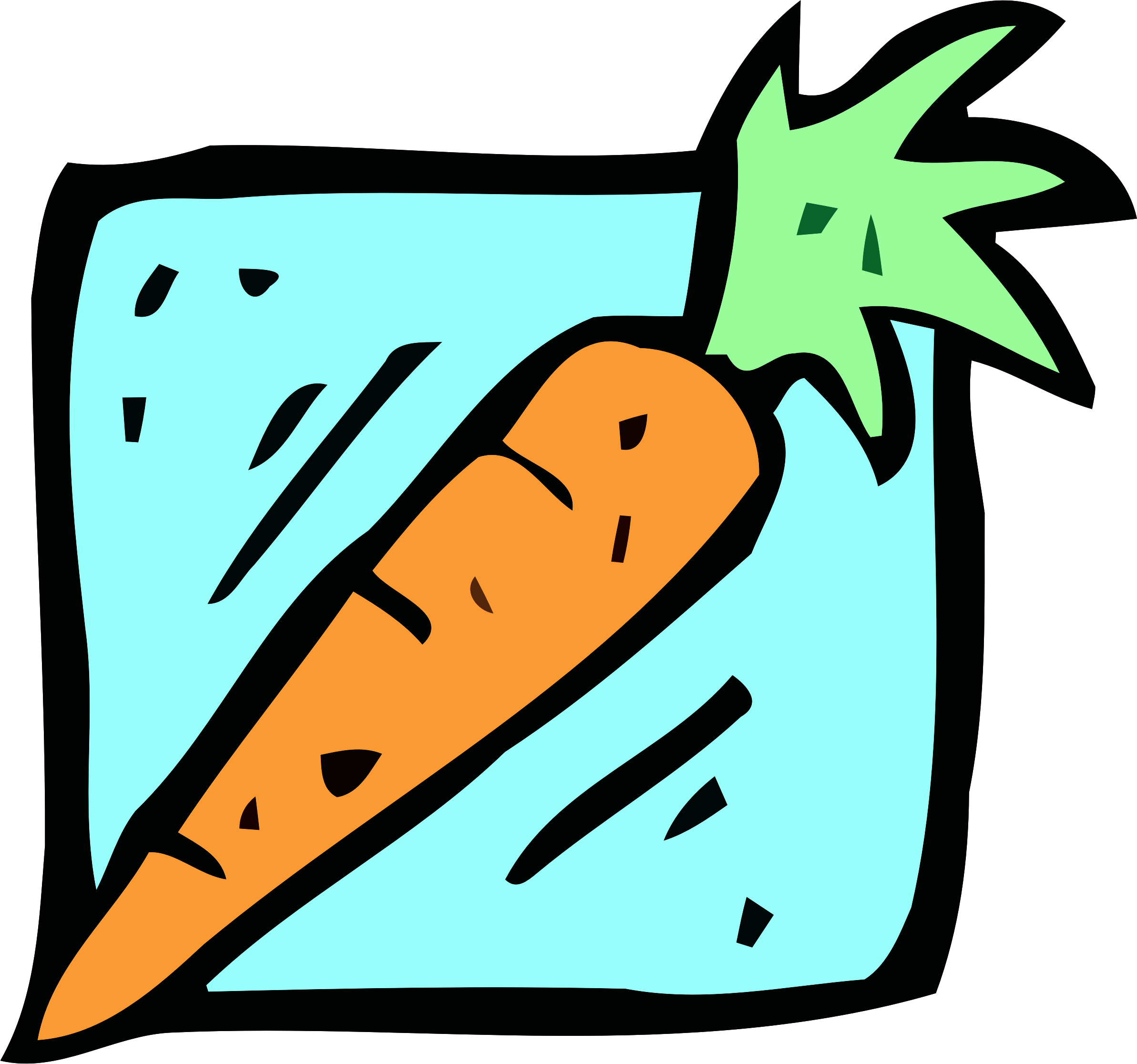 Food and drink icon - carrot by Firkin