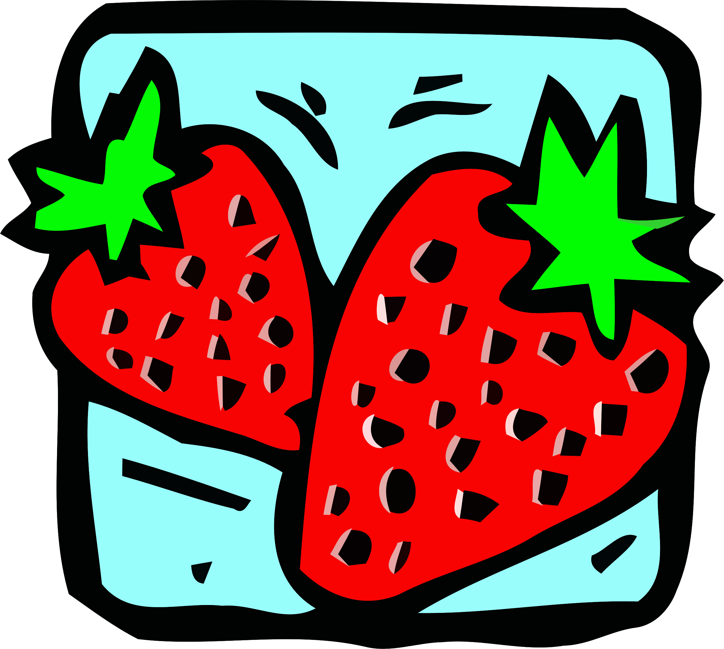 Food and drink icon - strawberry by Firkin