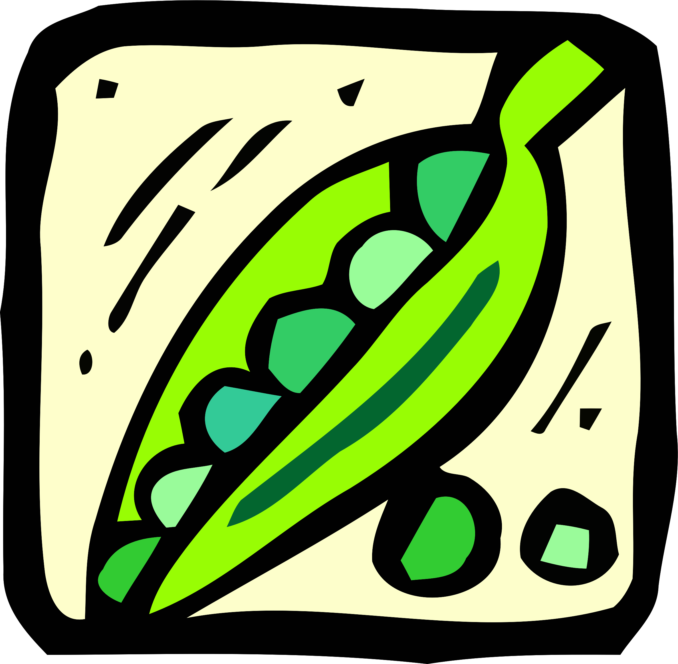 Food and drink icon - peas by Firkin