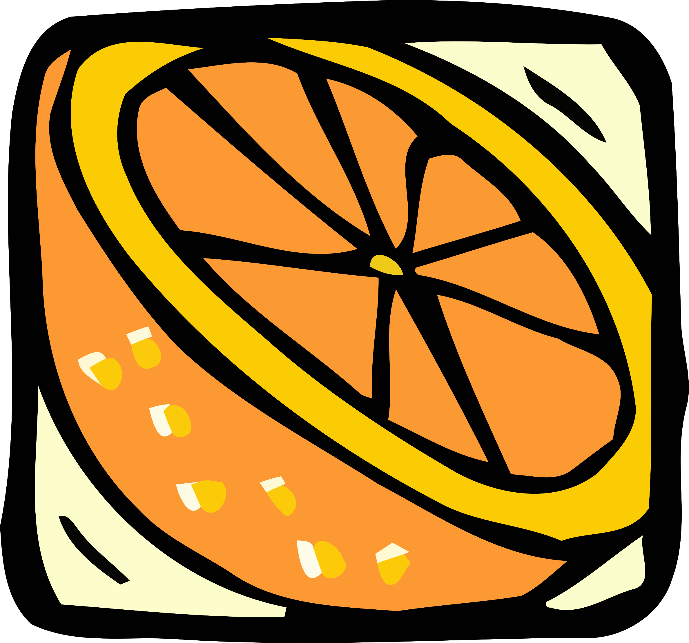 Food and drink icon - orange by Firkin