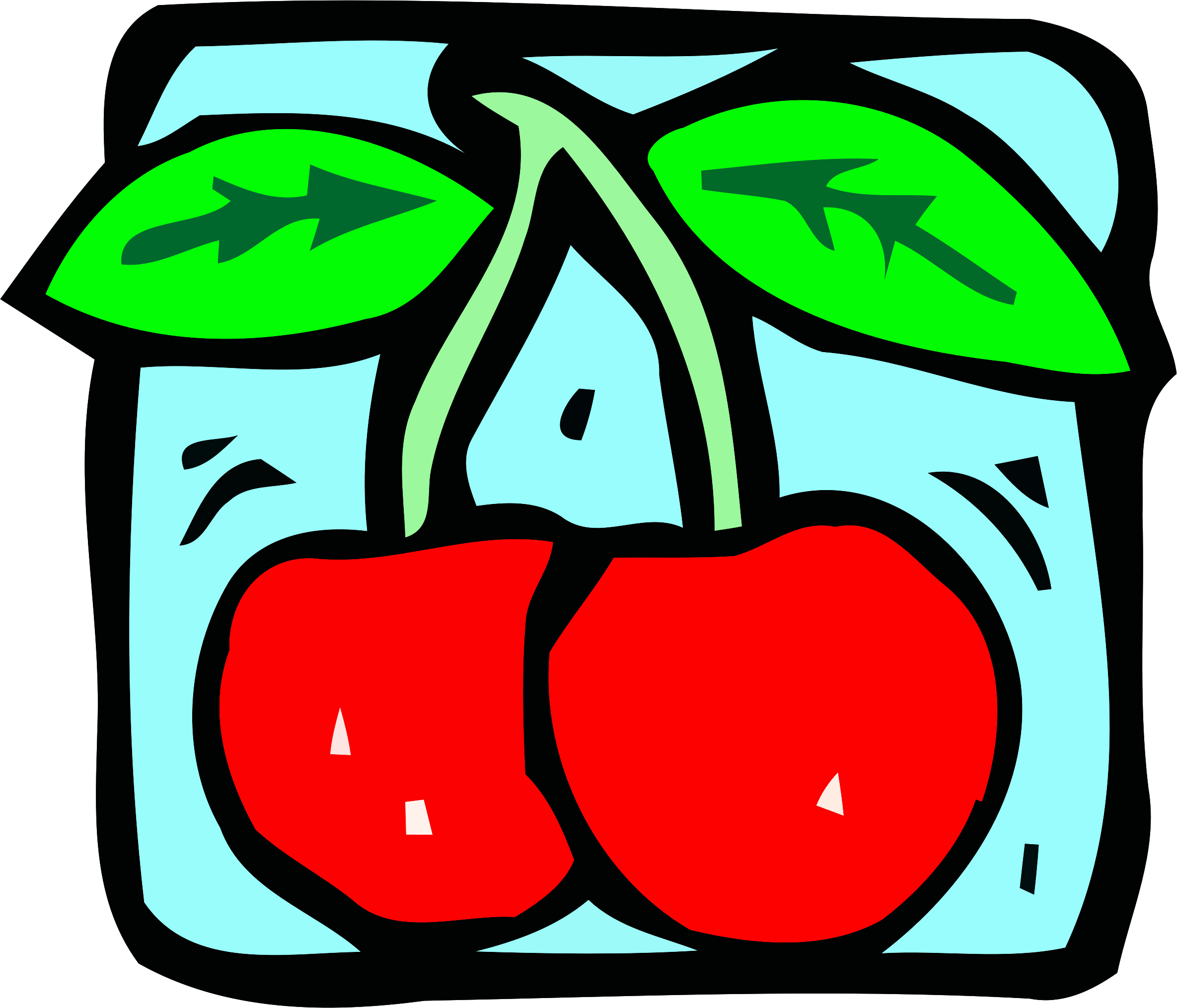 Food and drink icon - cherries by Firkin