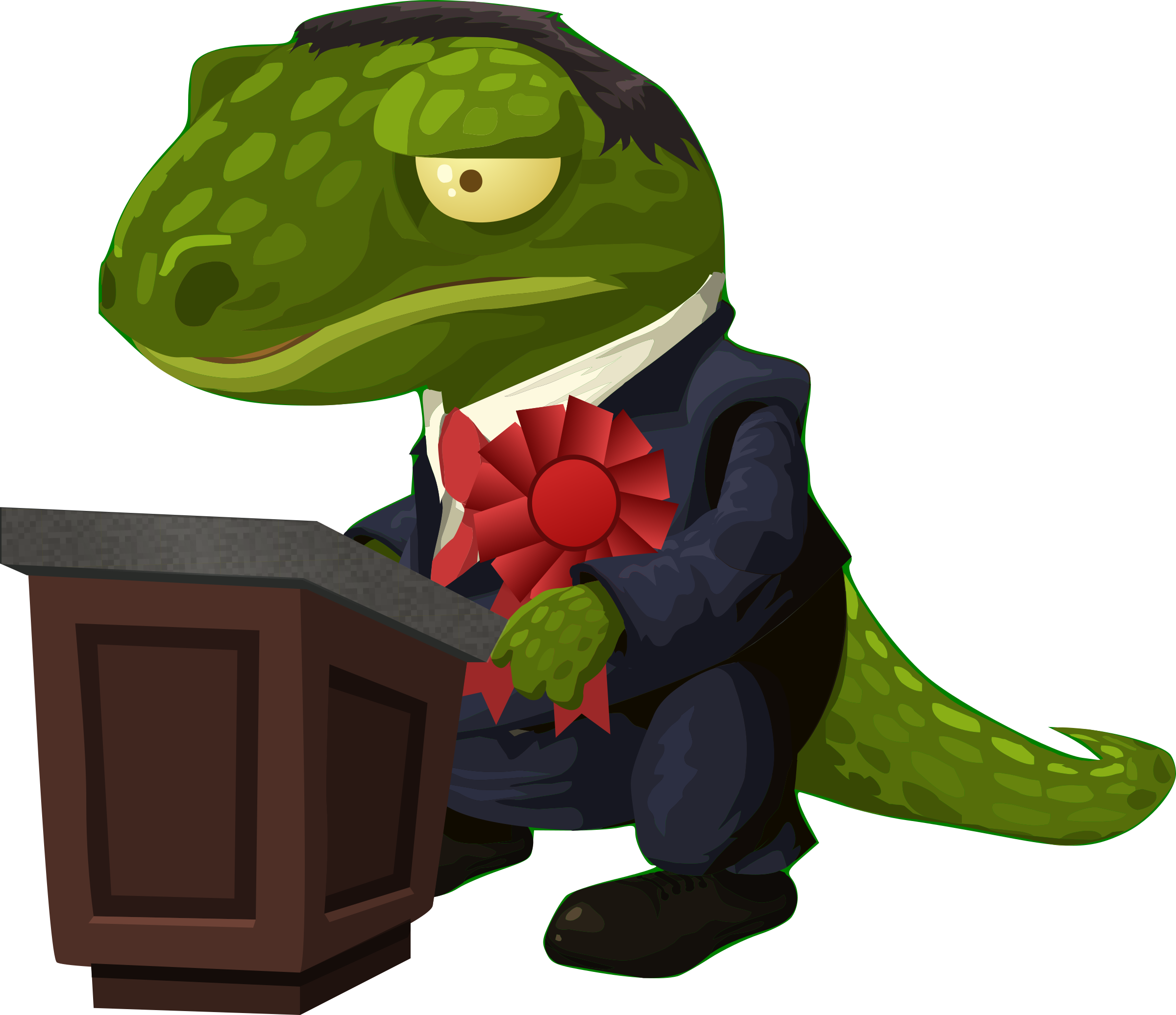 Very important lizard gives a speech by anarres