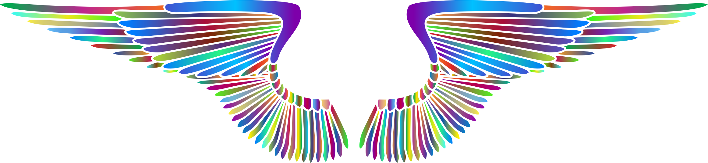 Hand Drawn Wings Prismatic 2 by GDJ