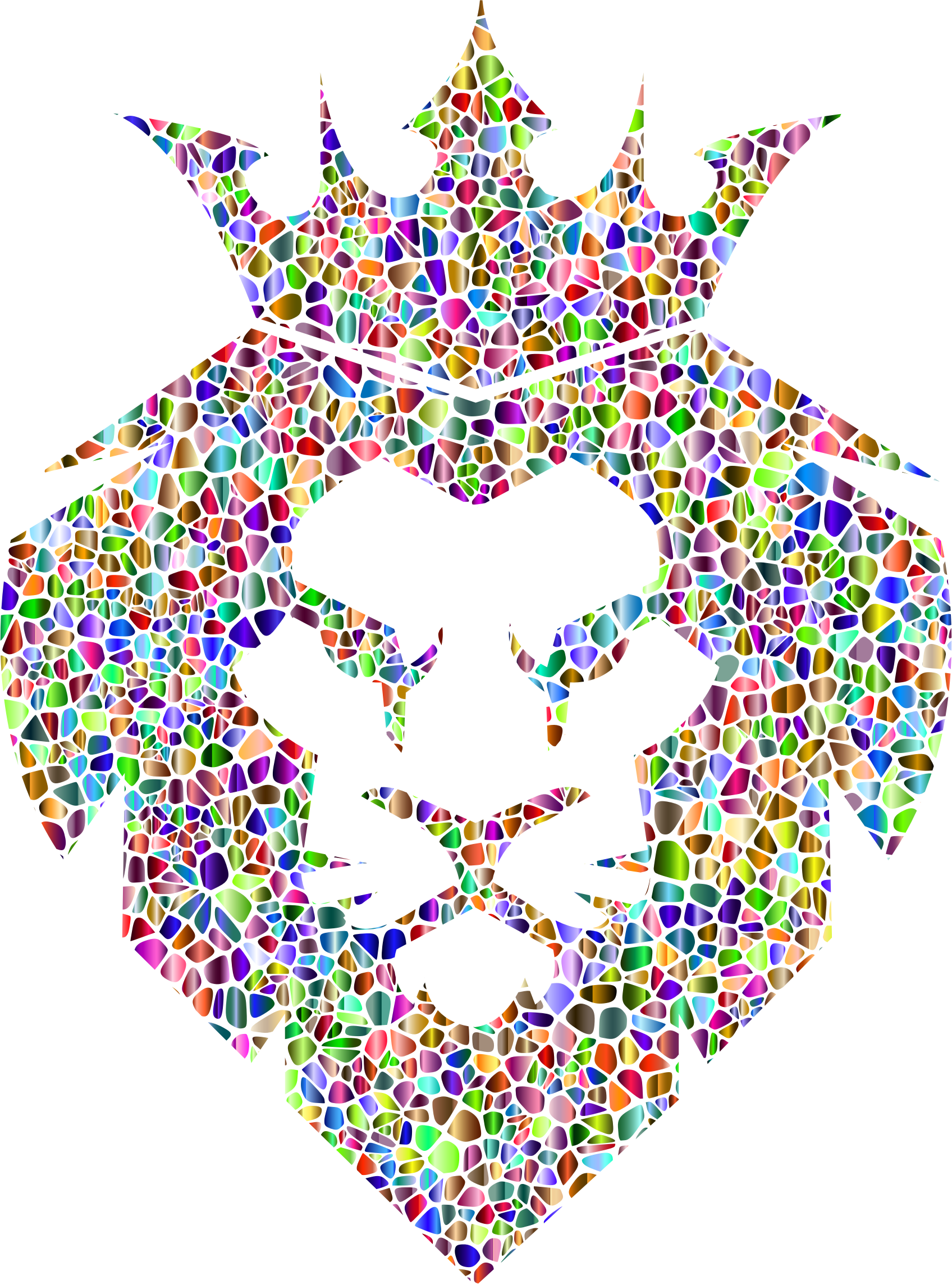 Chromatic Tiles Lion King No Background by GDJ