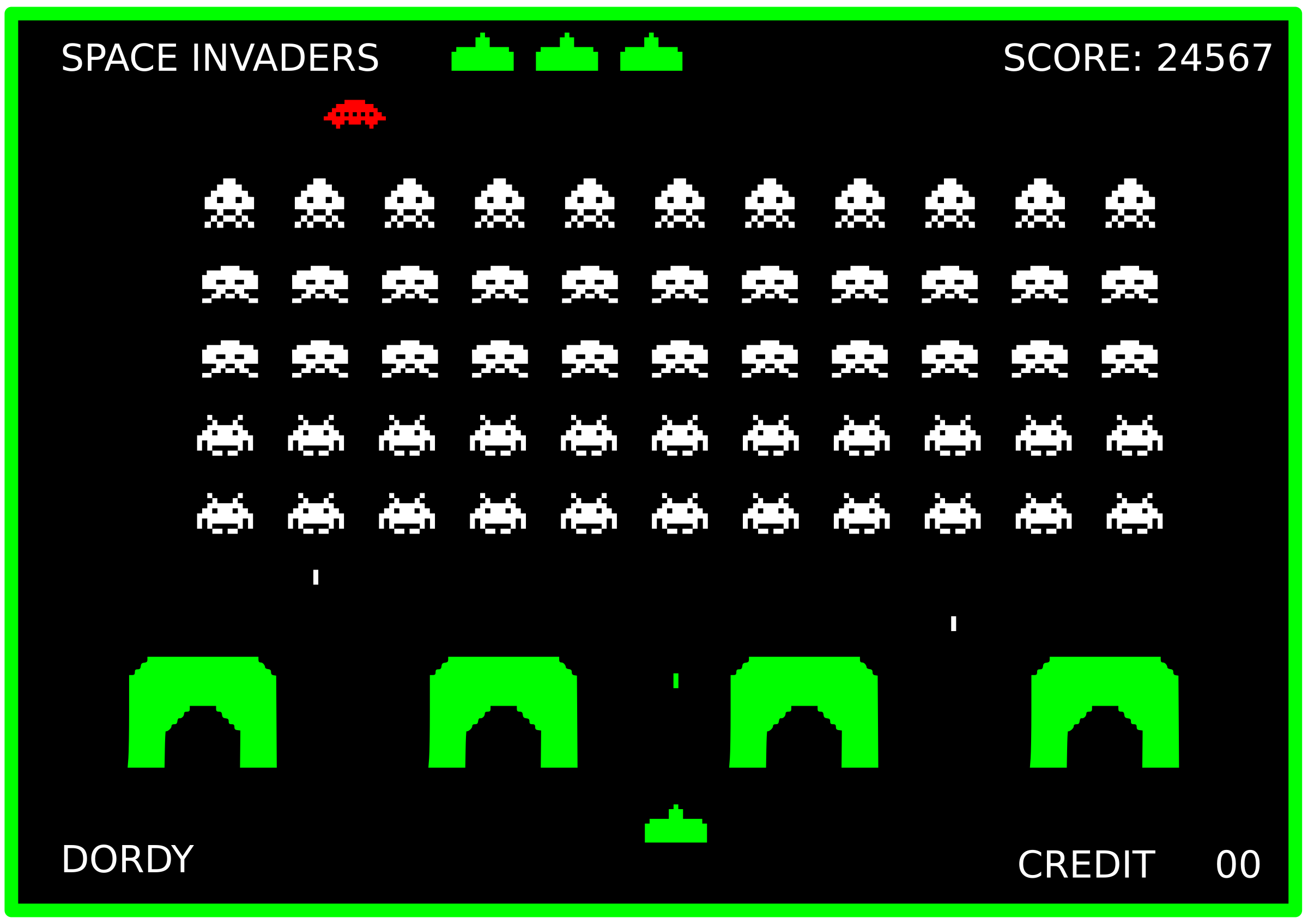 SPACE INVADERS by dordy