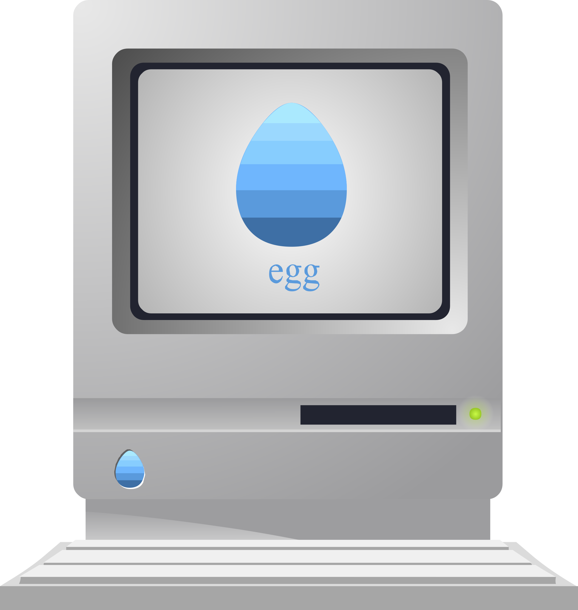 Anachronistic vintage 'egg' computer from Glitch by anarres