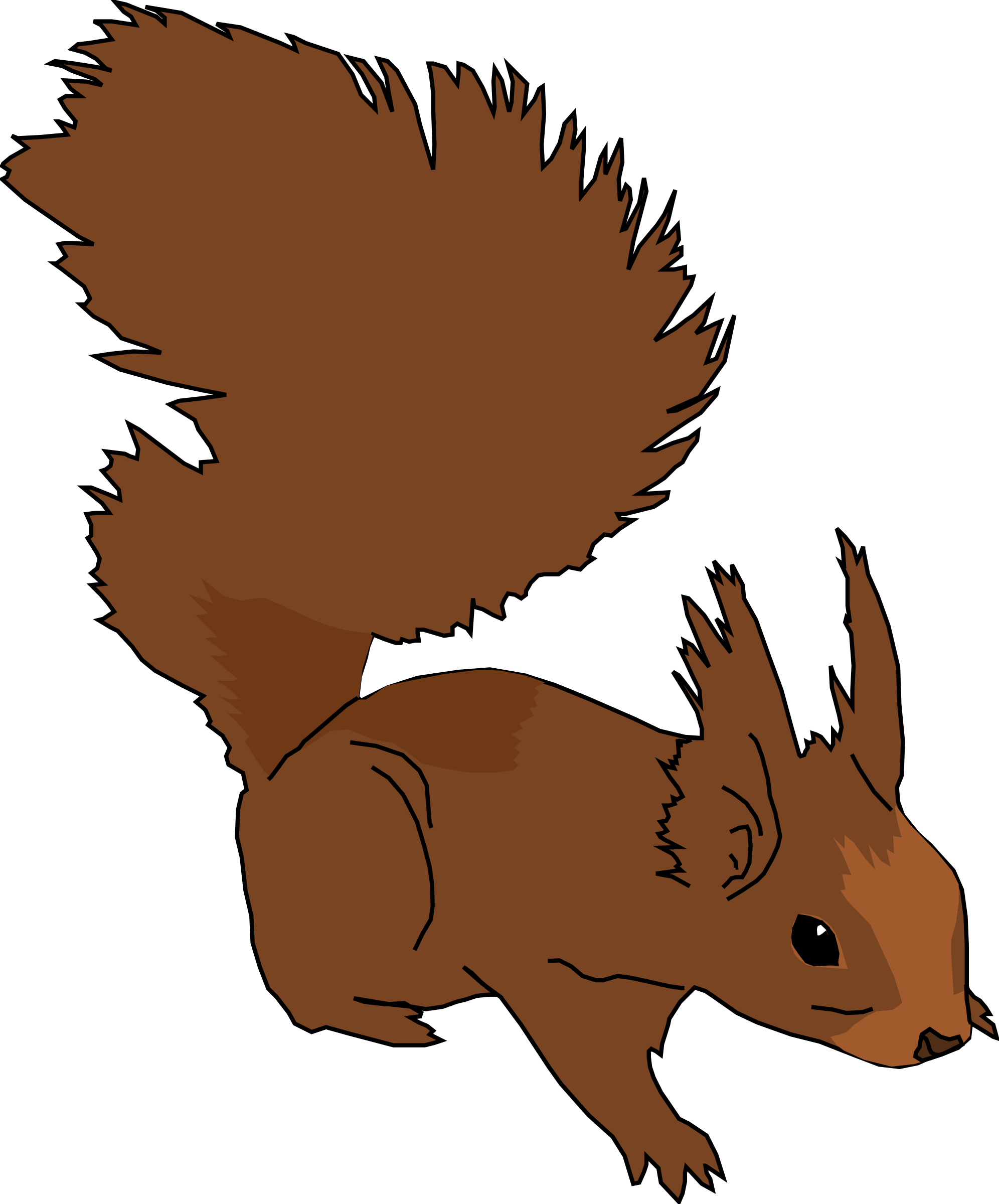Squirrel by gingercoons