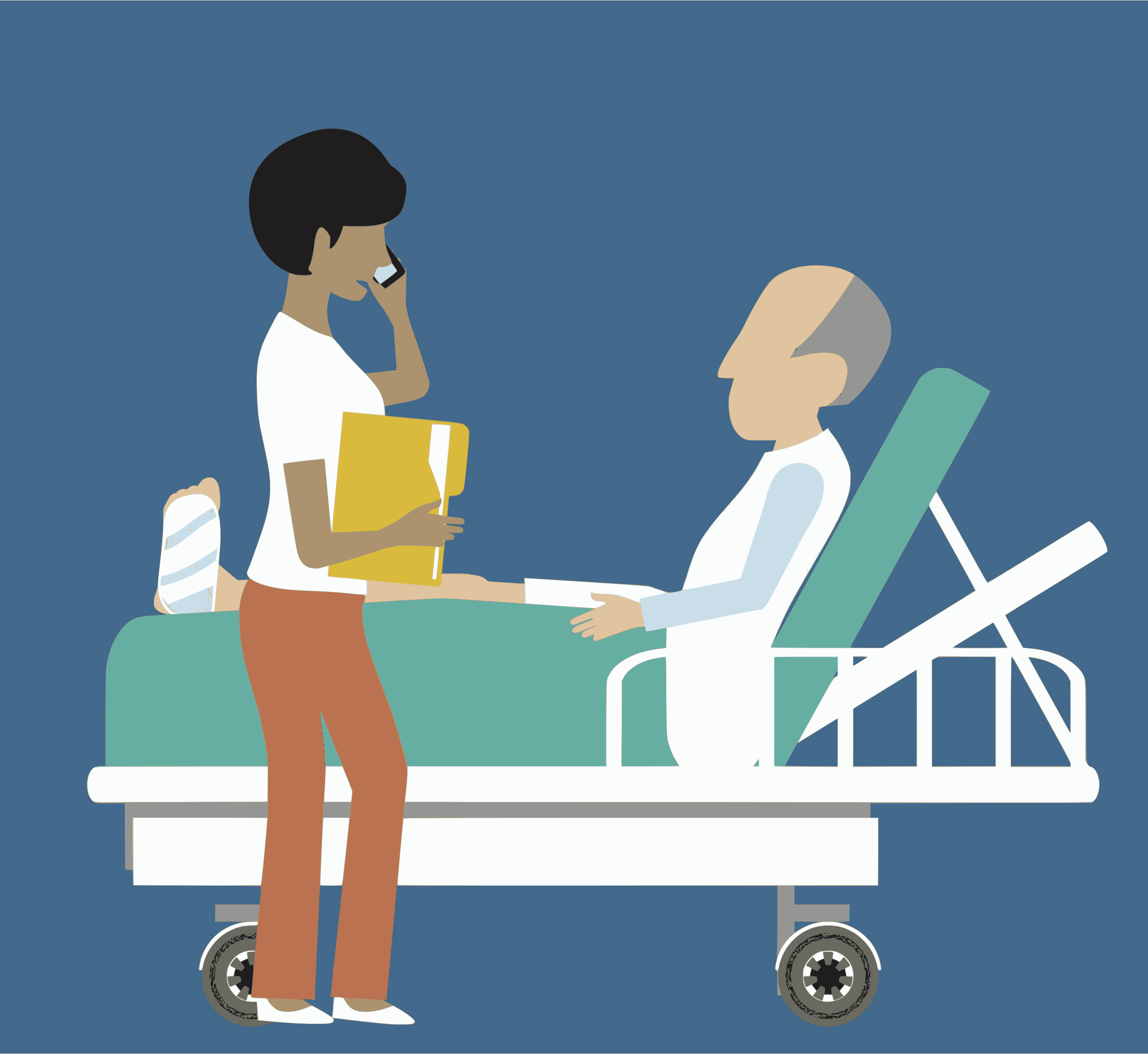 Clipart - Man in Hospital