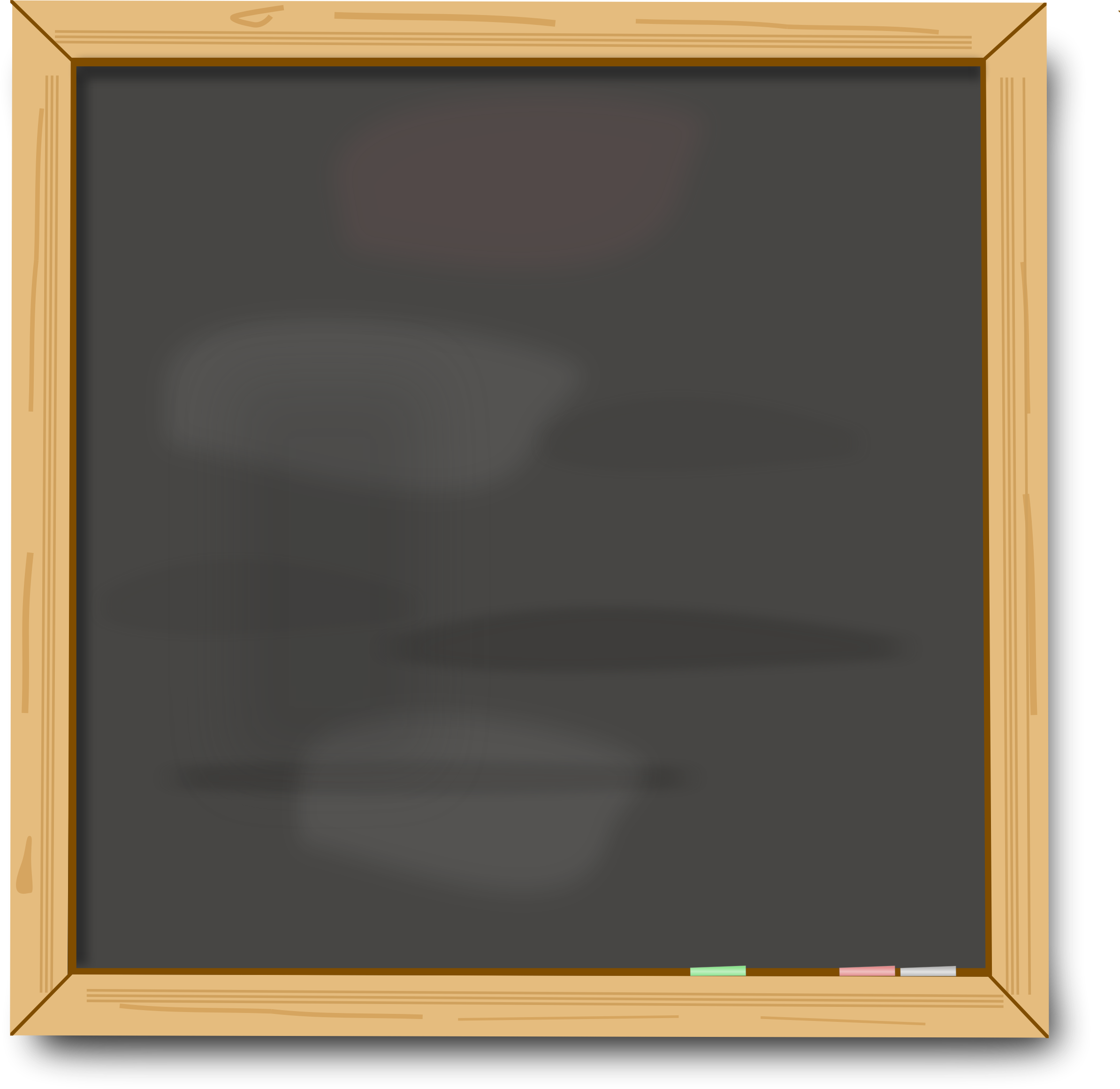 Blank chalk board by Firkin