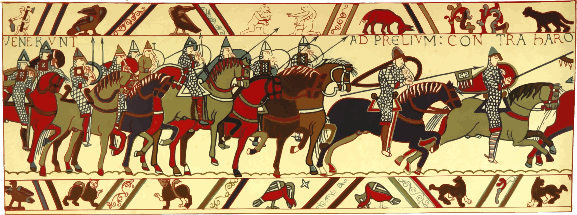 Part of Bayeux Tapestry 3 by Firkin