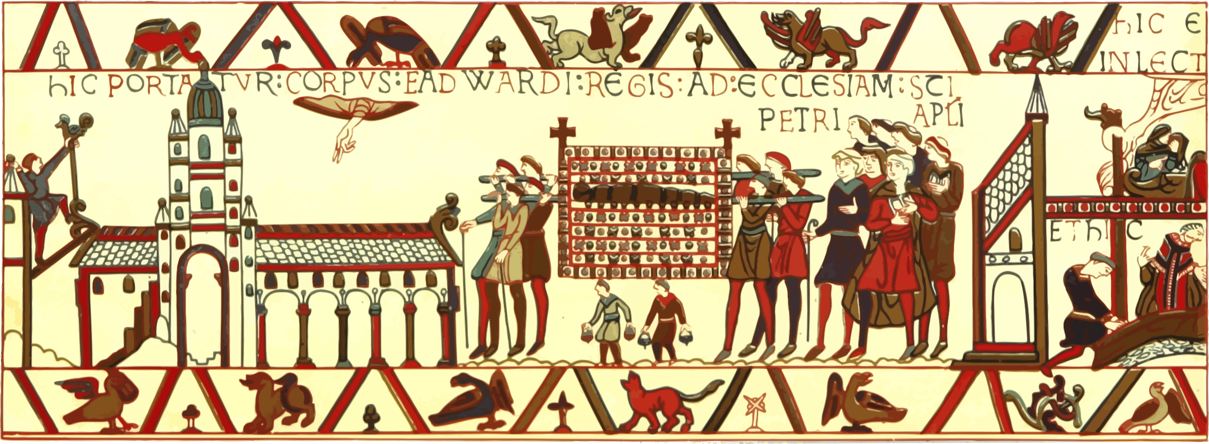 Part of Bayeux Tapestry 6 by Firkin