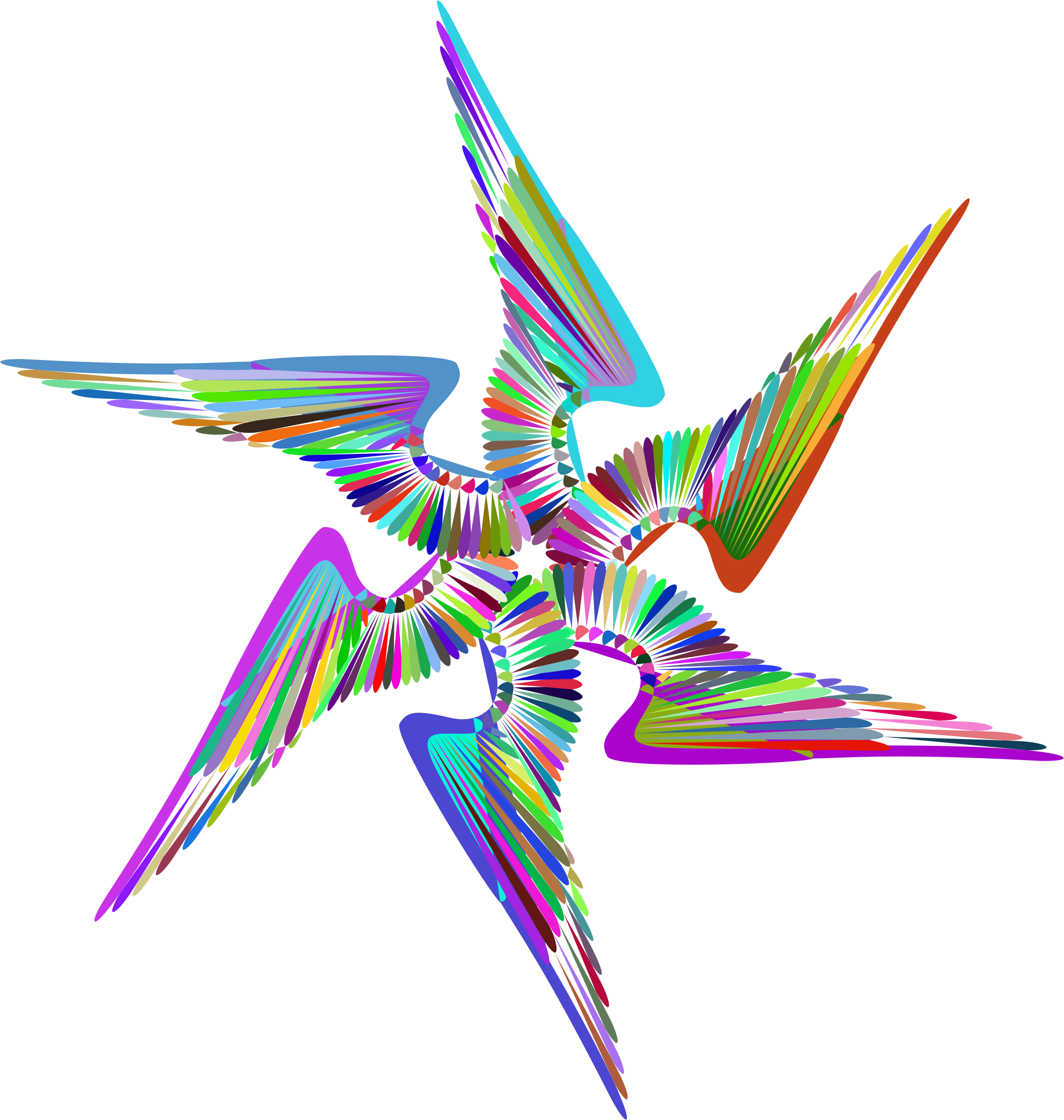 Wings Design Line Art Prismatic by GDJ