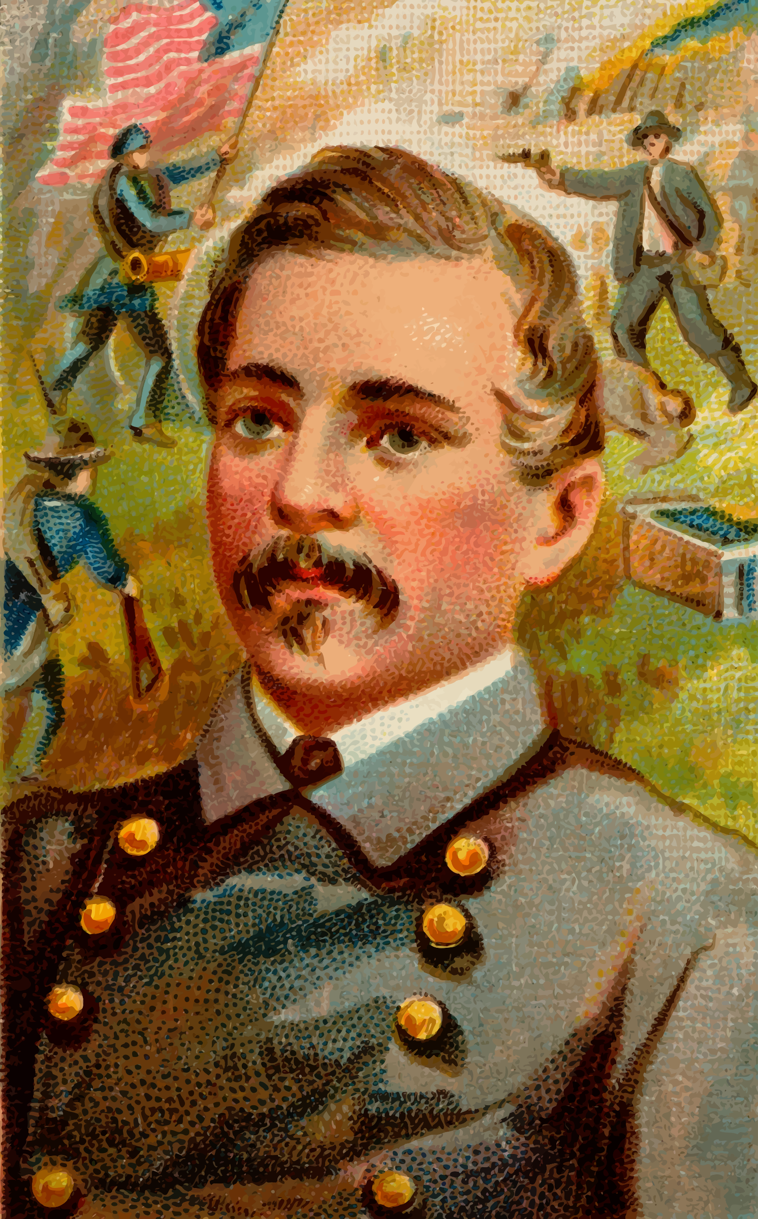 Cigarette card - Beauregard by Firkin