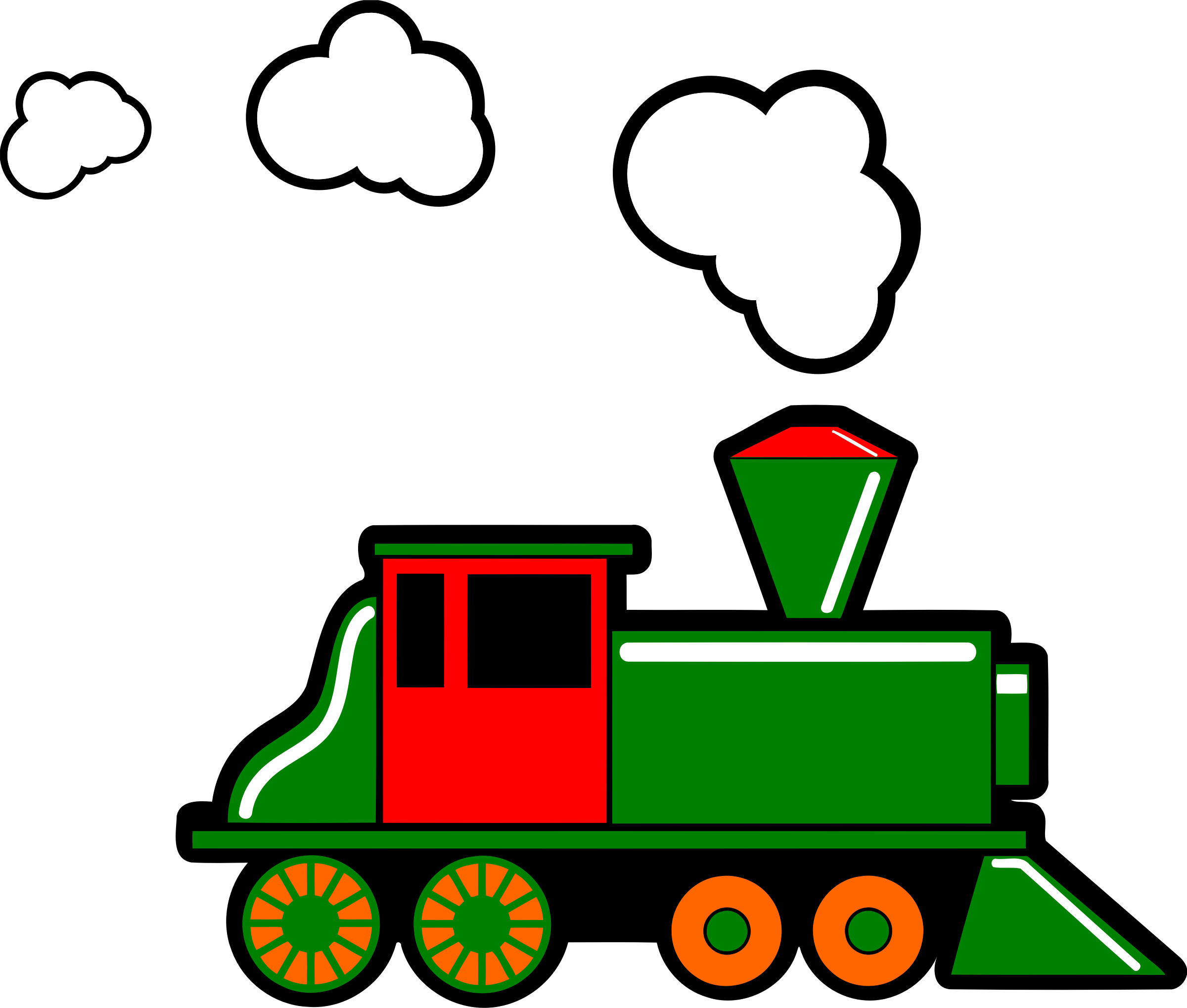 Steam train 2 (colour) by Firkin