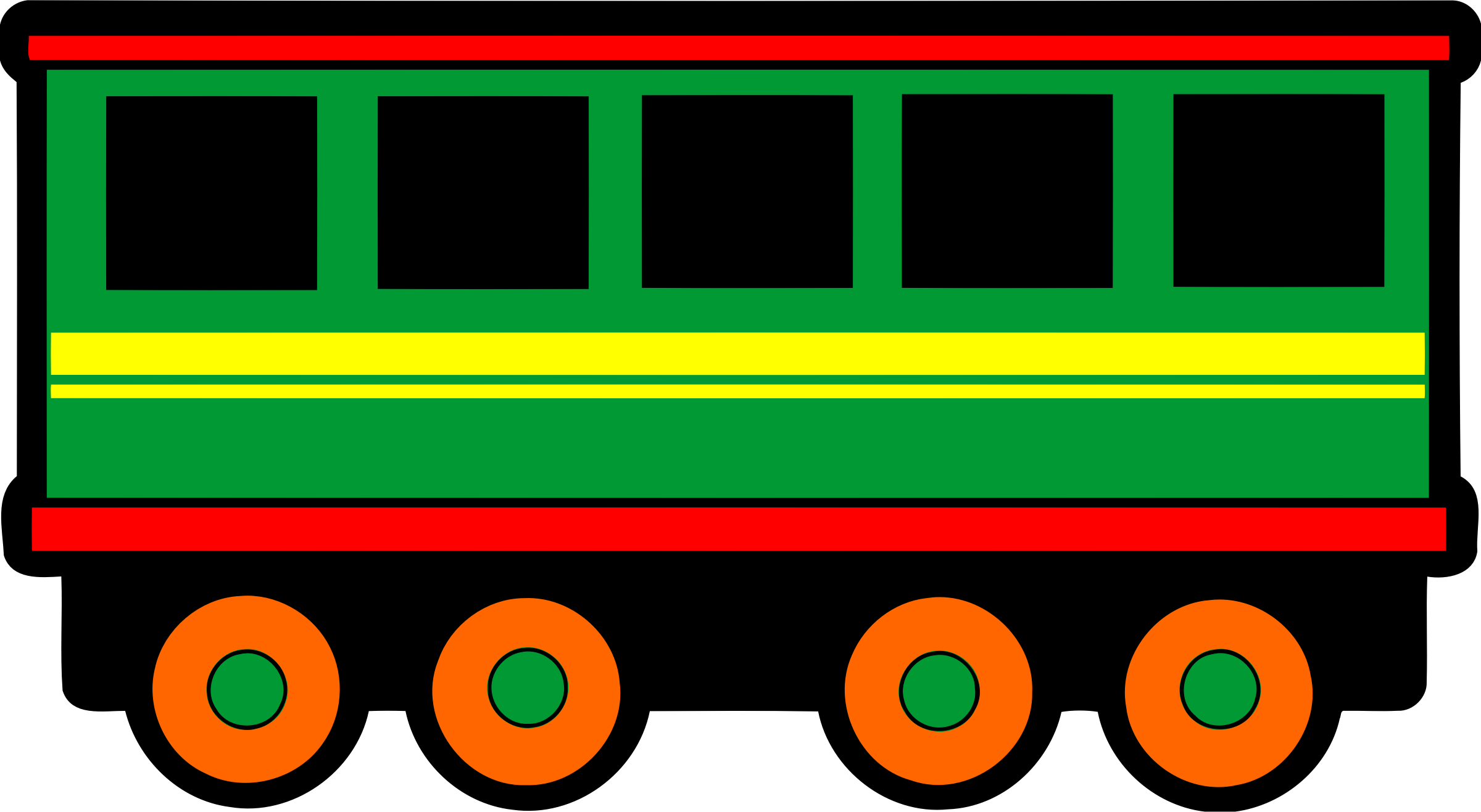 Railway carriage (colour) by Firkin