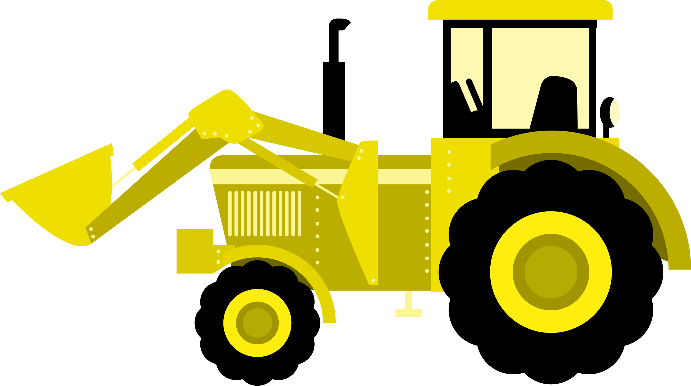 Yellow Tractor Clip Art : Clipart tractor
