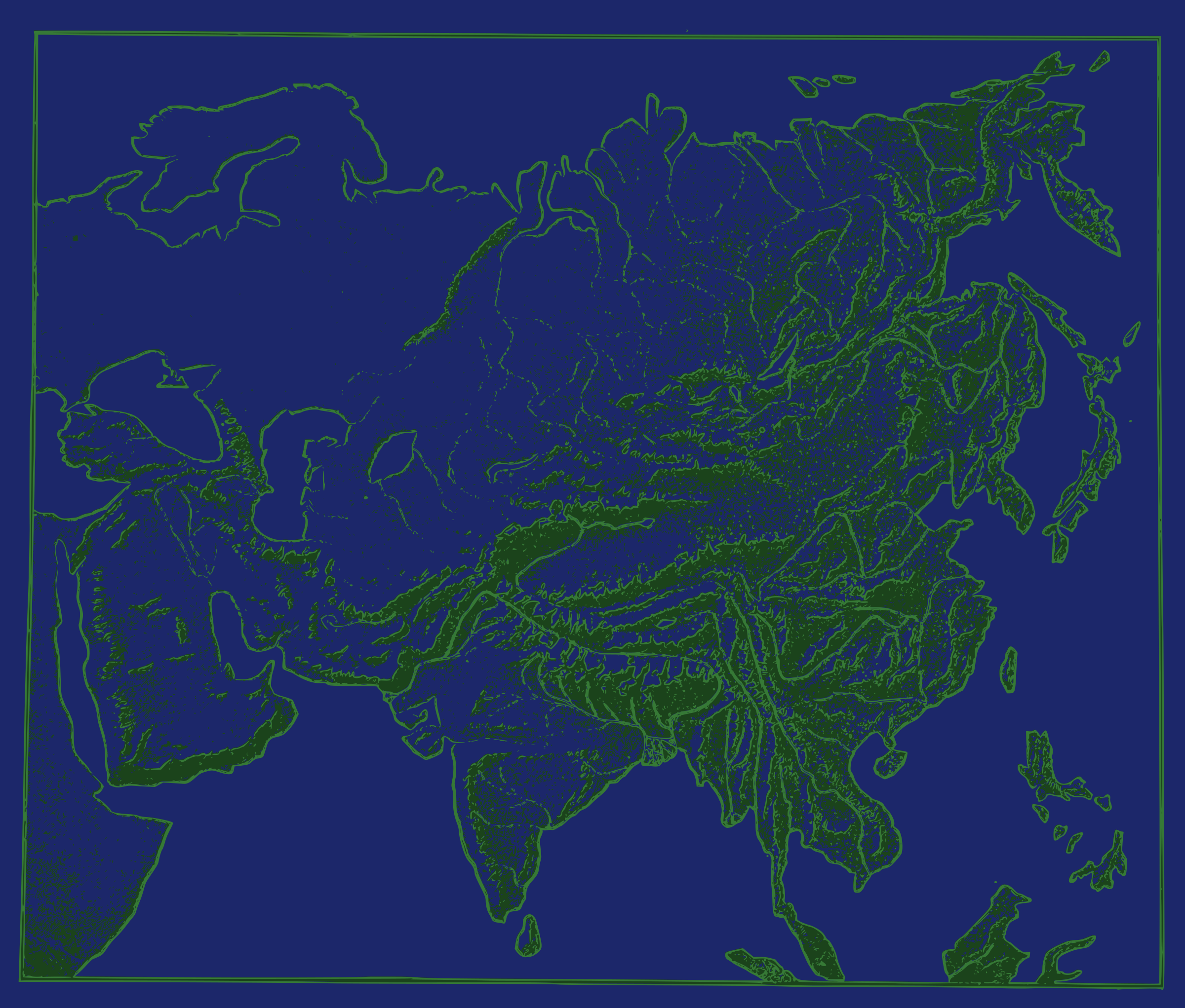 Map of Asia by j4p4n
