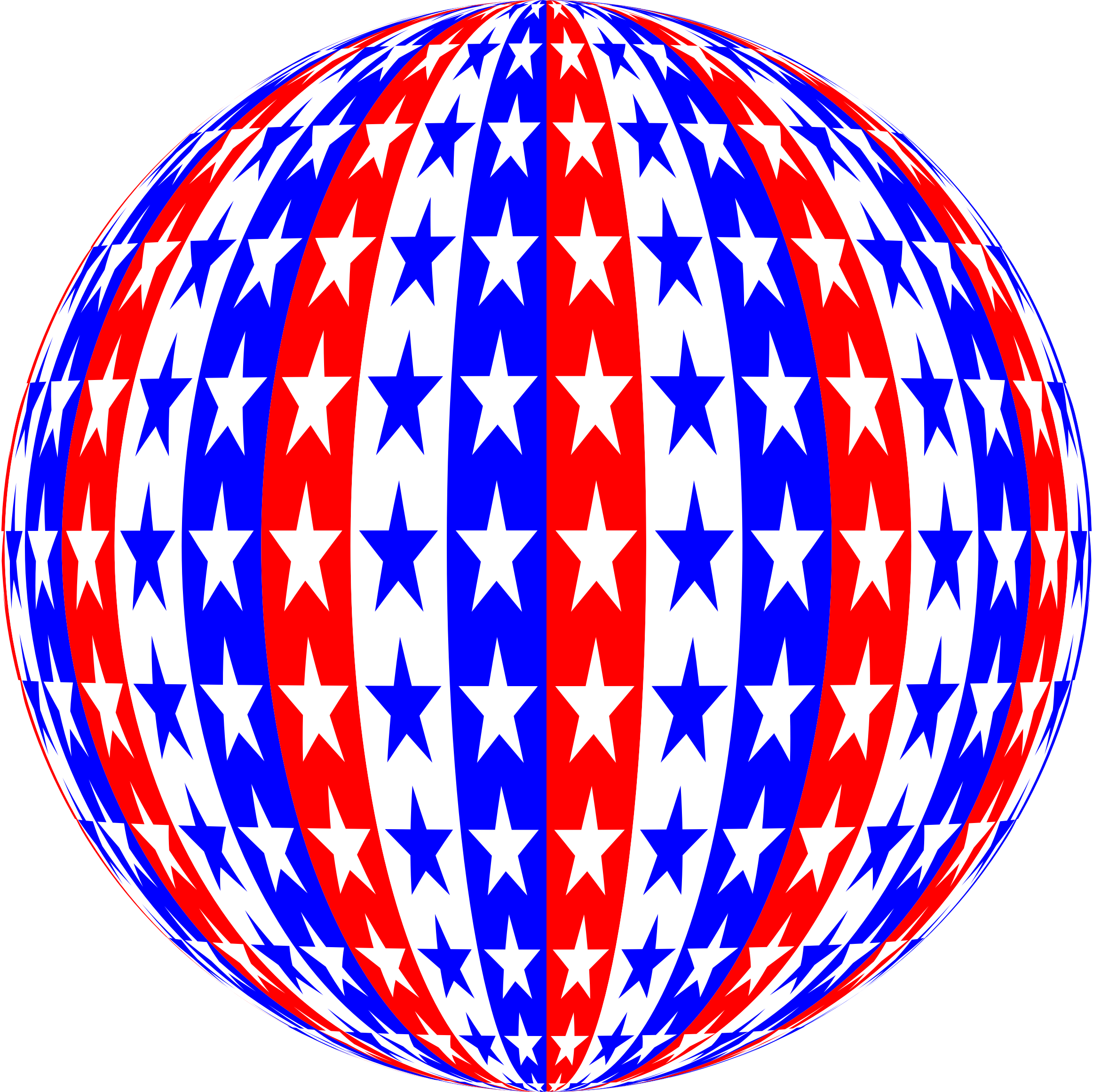 Red White Blue Sphere by GDJ