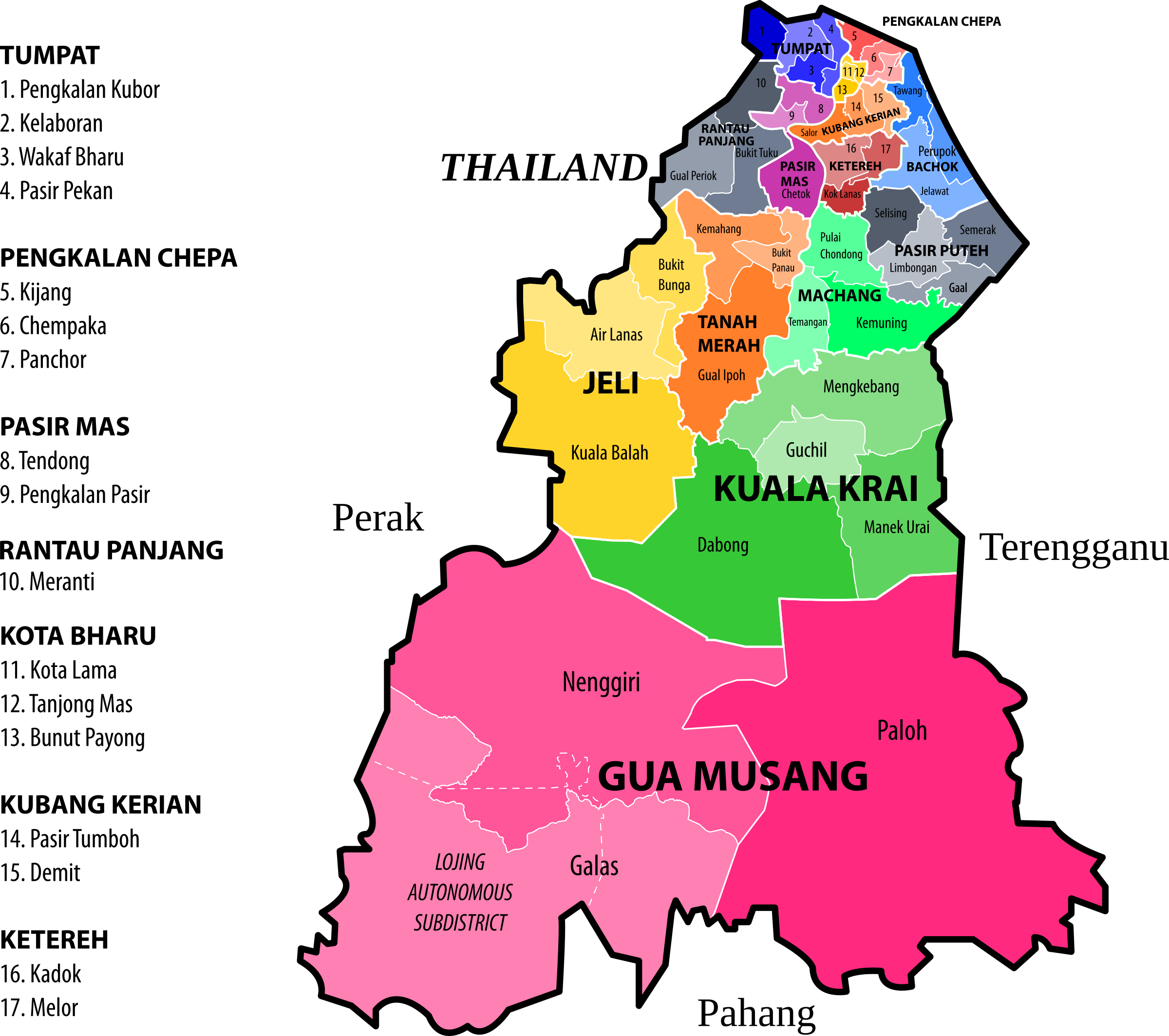 Kelantan State Legislative Assembly Constituencies by derkommander0916