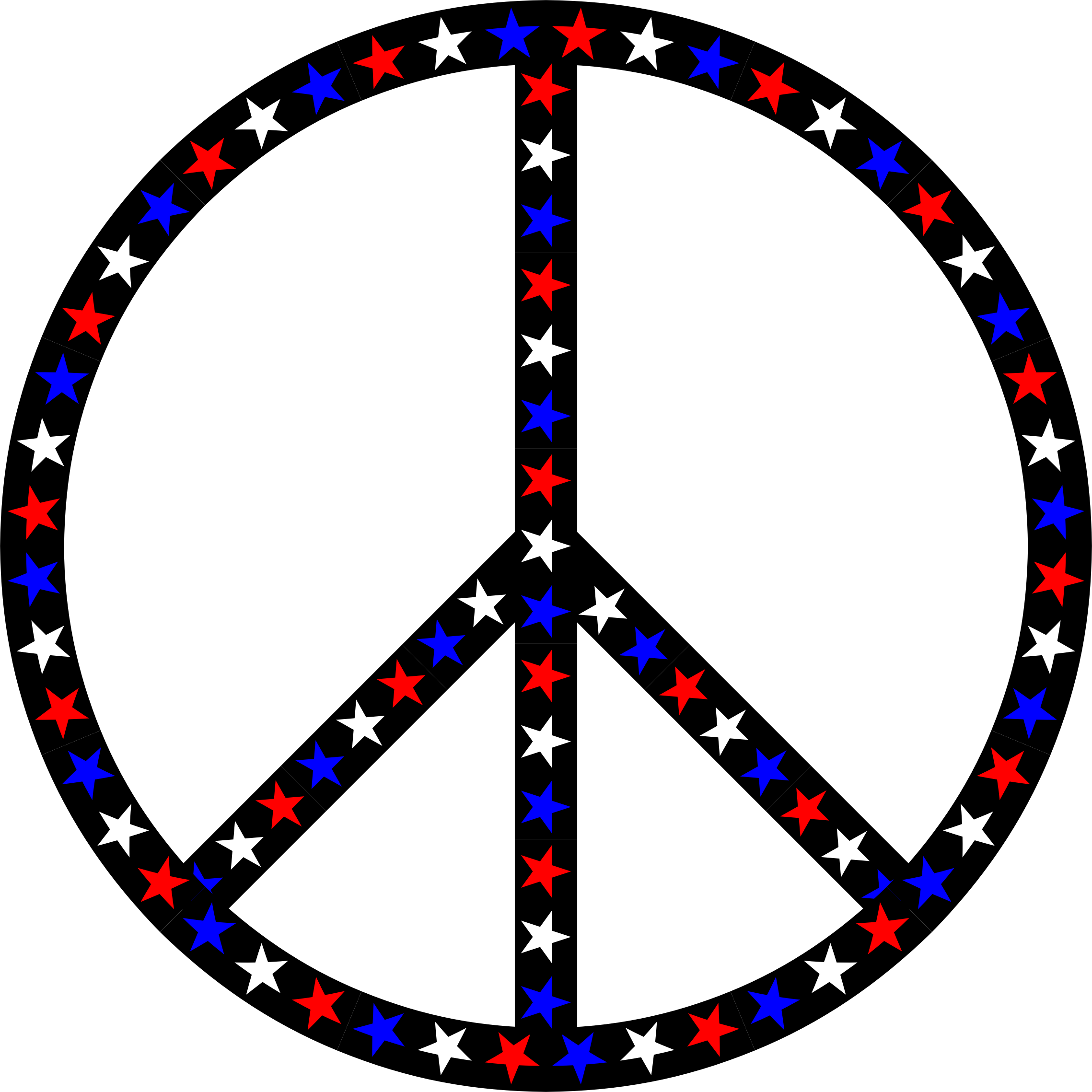 Red White Blue Peace Sign by GDJ