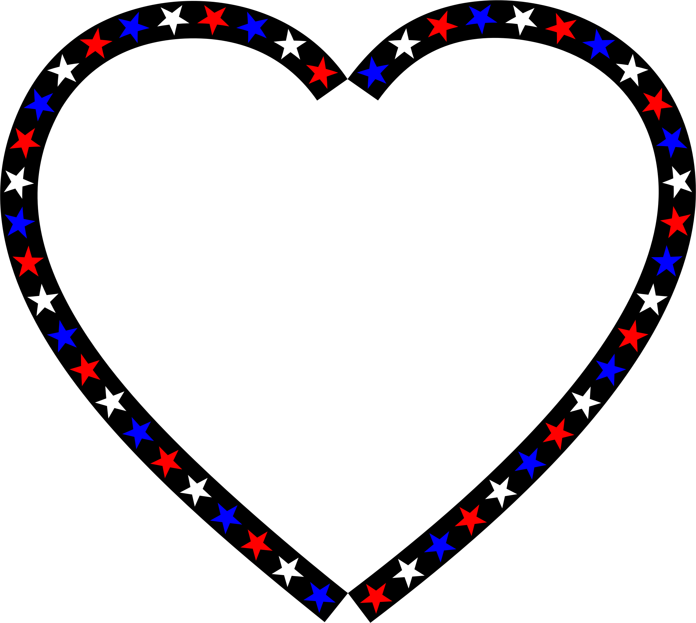 Clipart Red White Blue Heart