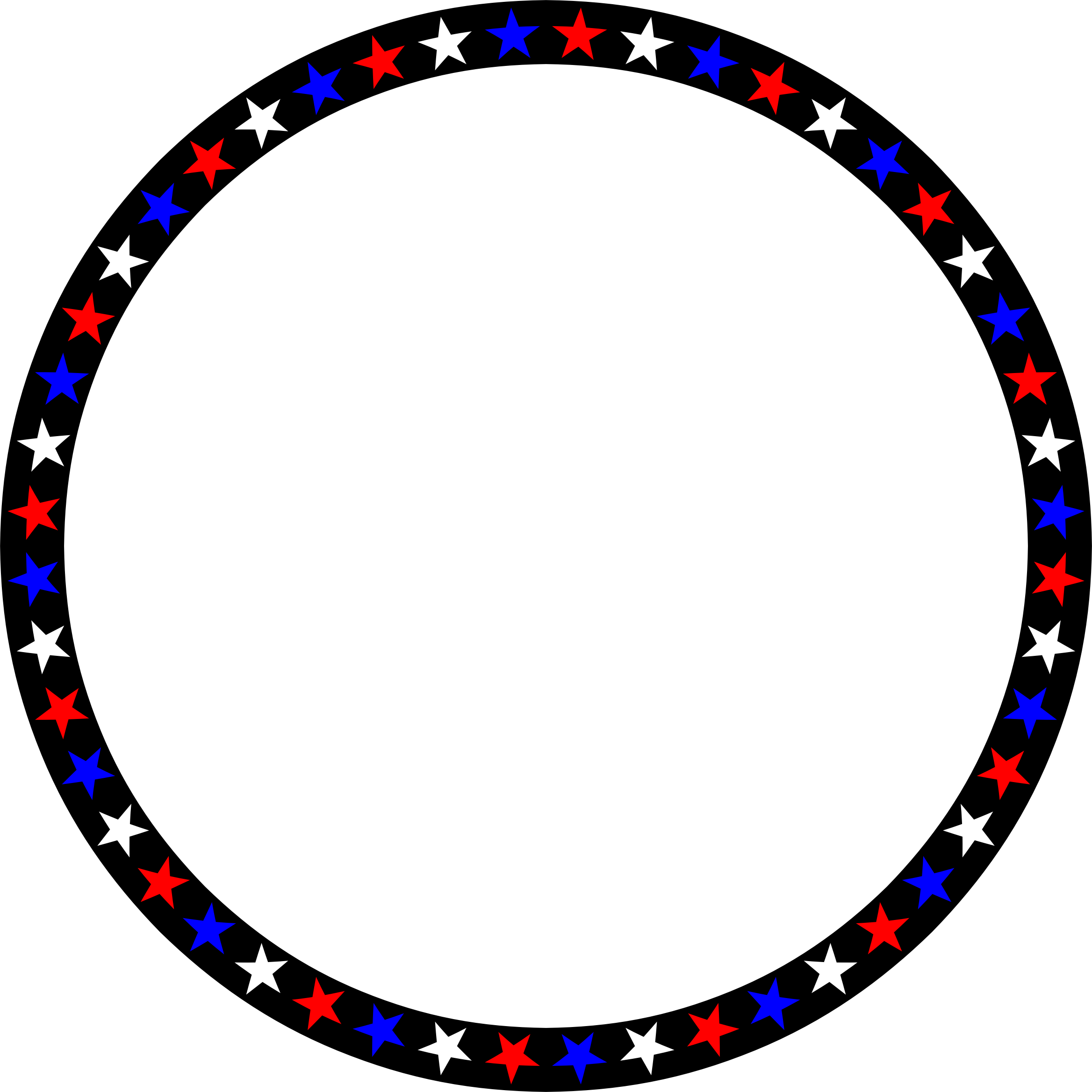 Red White Blue Stars Circle by GDJ