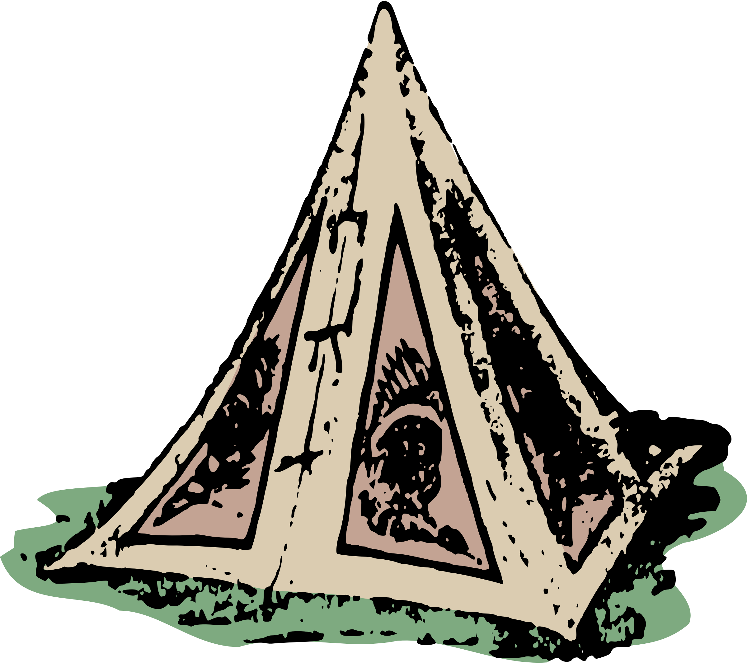 Simple Tipi Tent by j4p4n