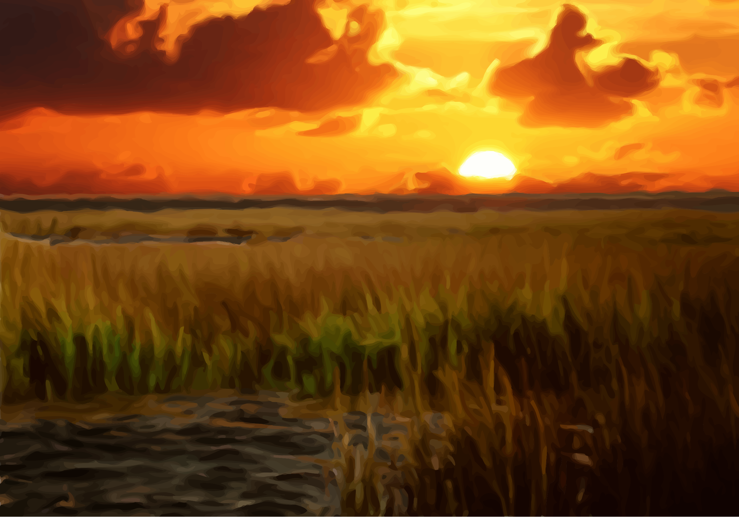 Sunset scene by Firkin