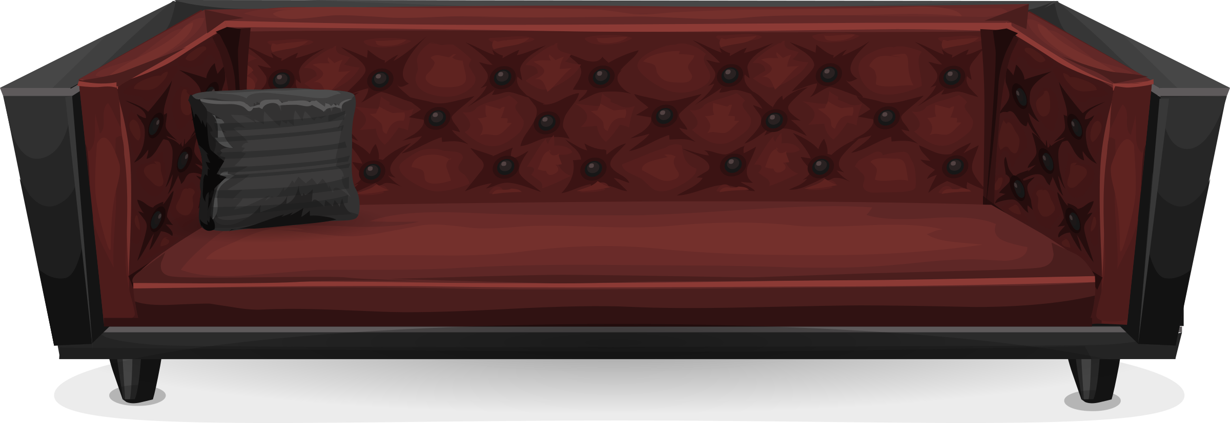 Clipart Dark Red Sofa From Glitch