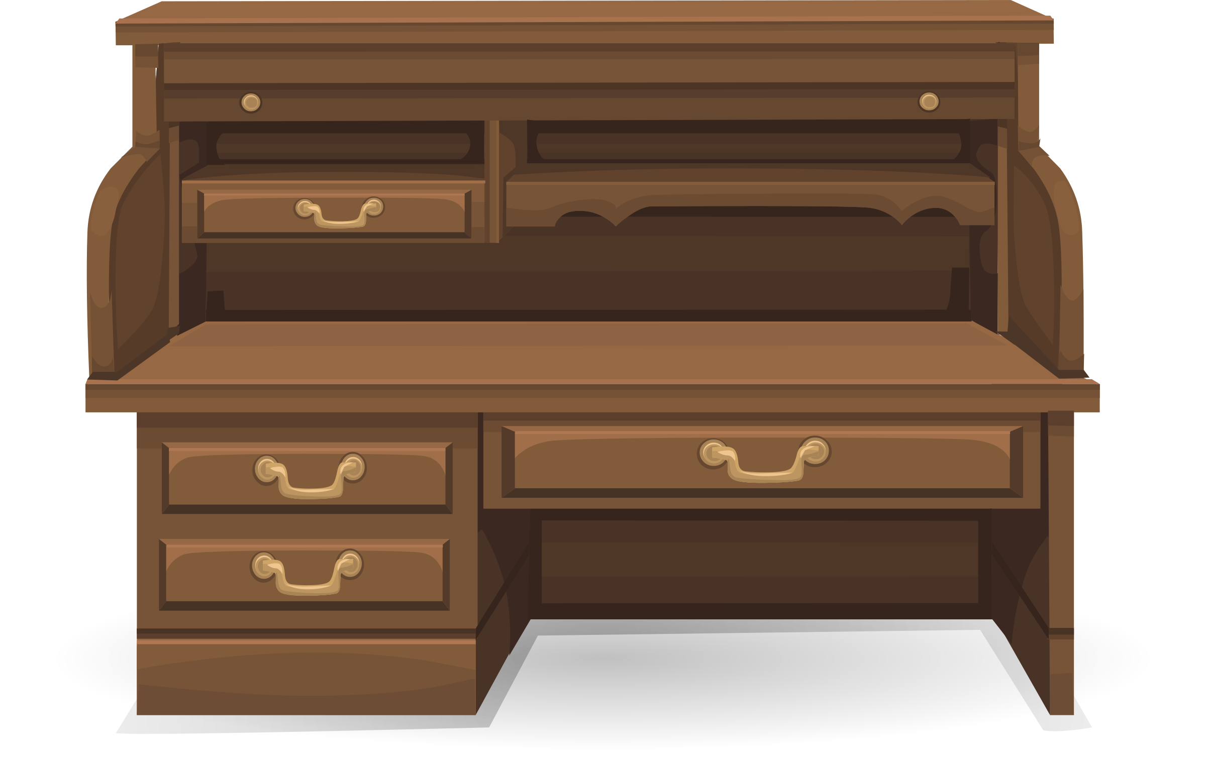 Clipart Roll Top Desk From Glitch