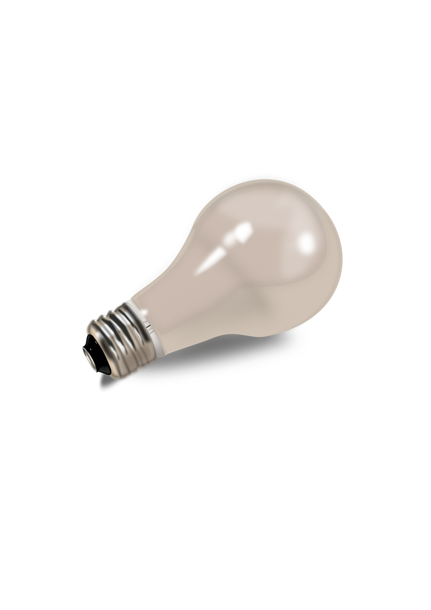 Realistic light bulb lampadina by inkscapeforum.it