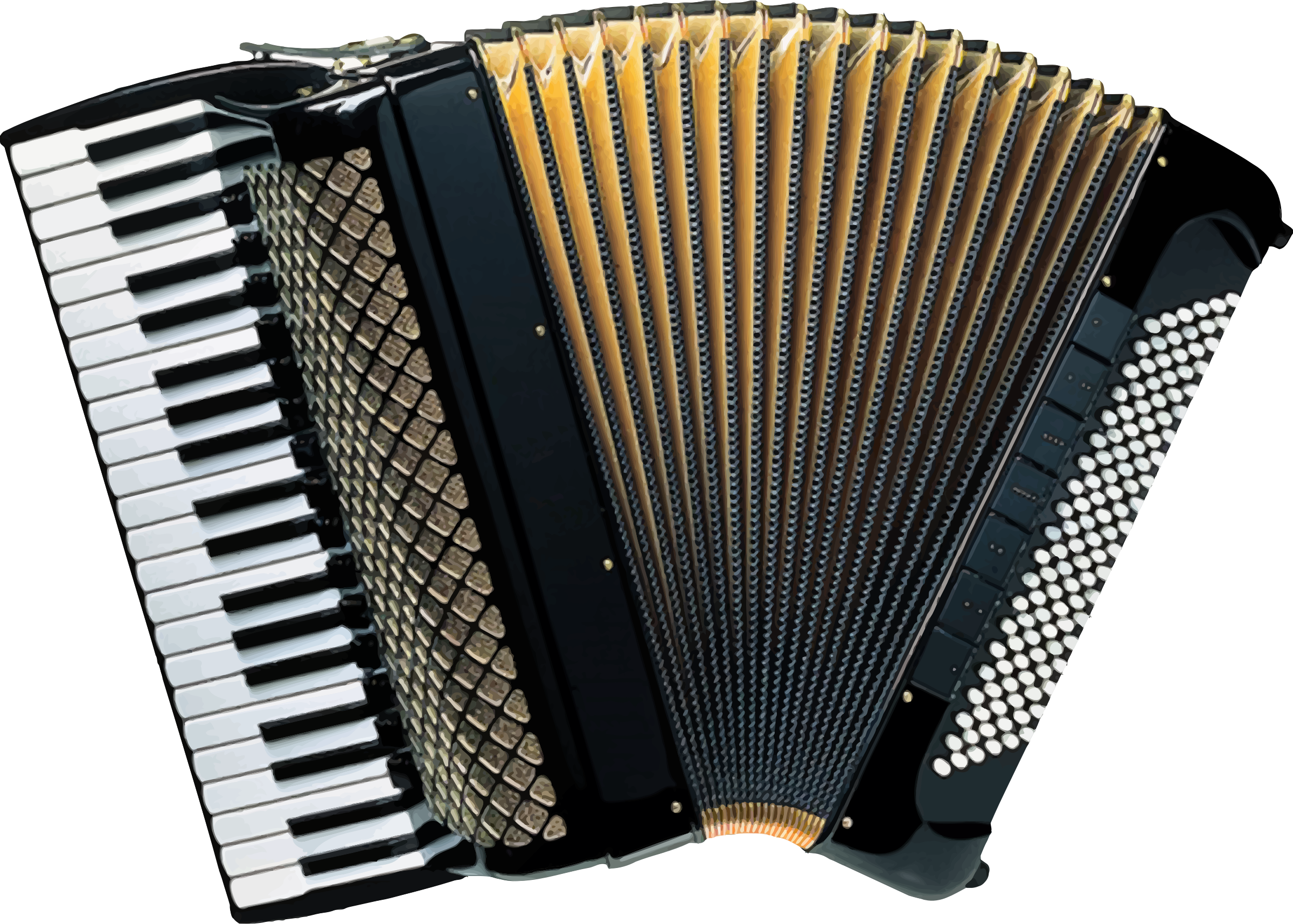 Piano accordion (vectorized) by Firkin