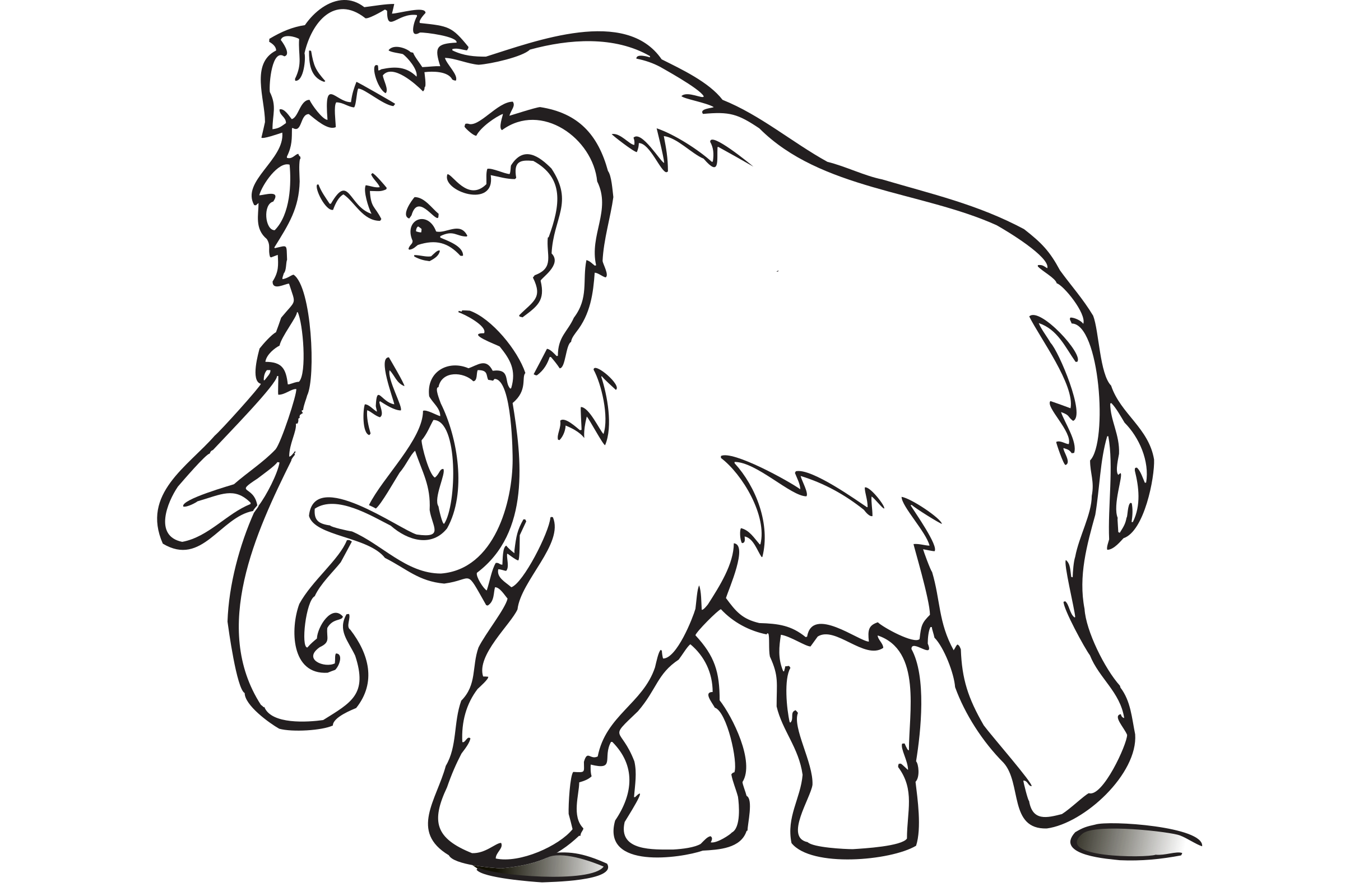 White Woolly Mammoth by SeriousTux