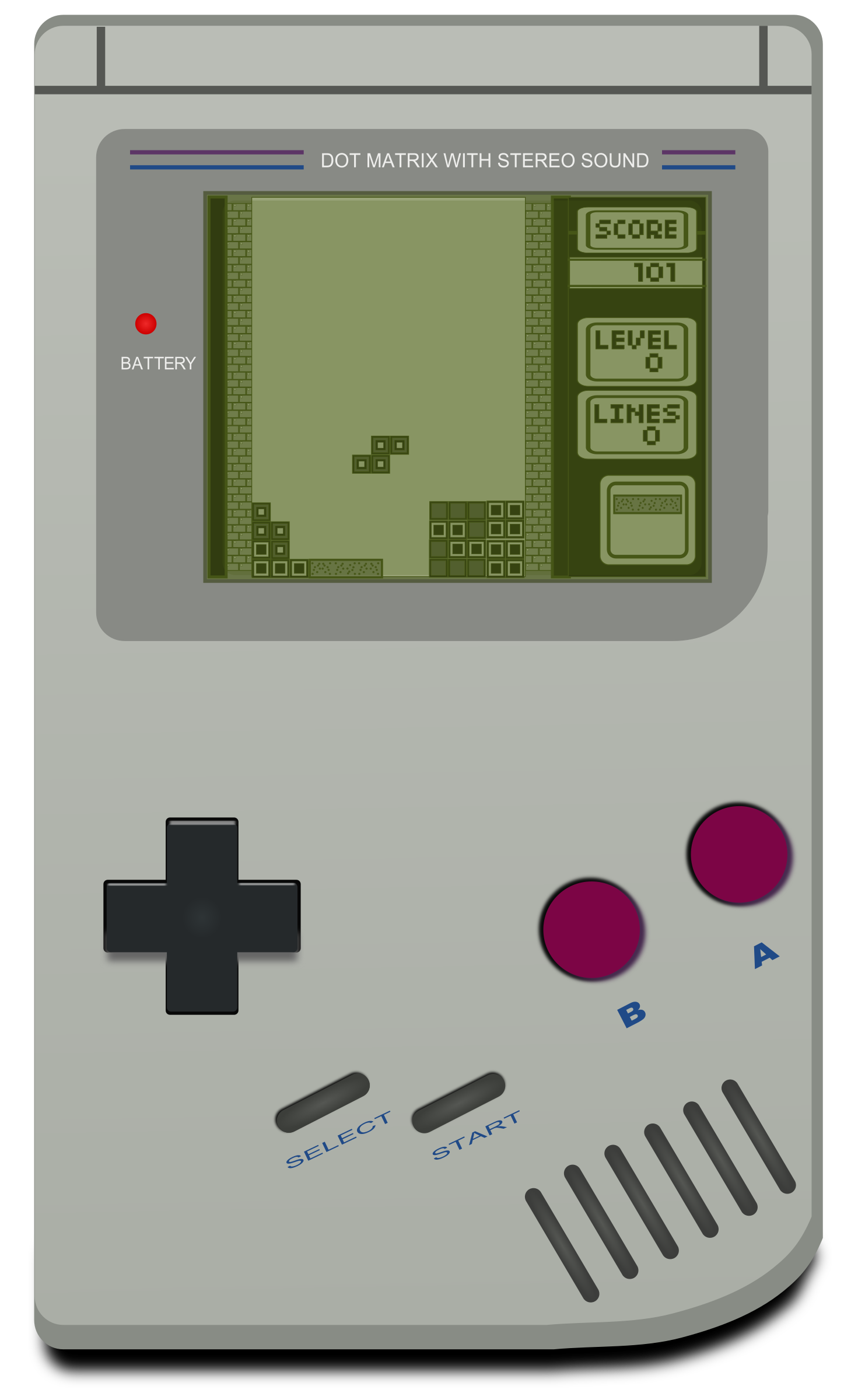 Gameboy with tetris  by inkscapeforum.it