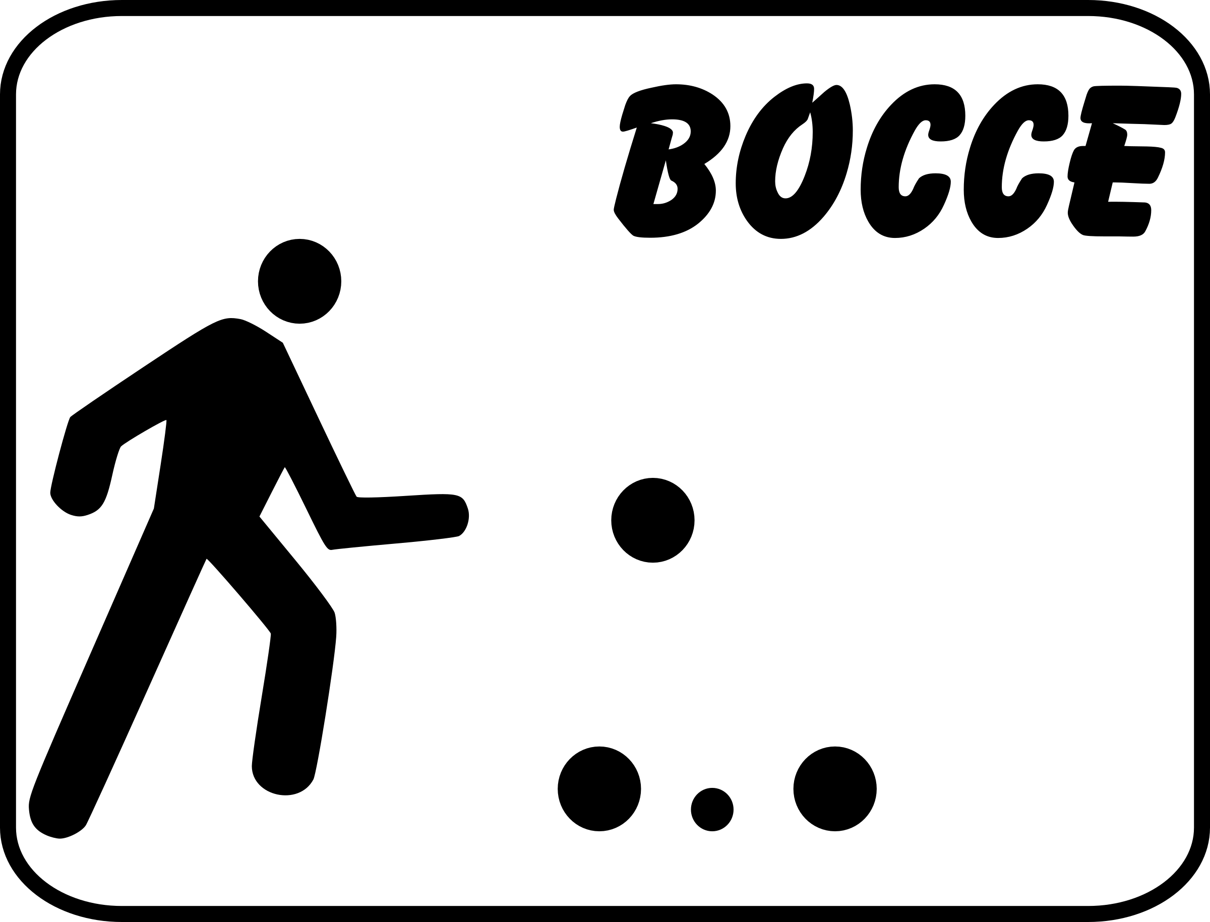 bocce sign by pjsvbfcm