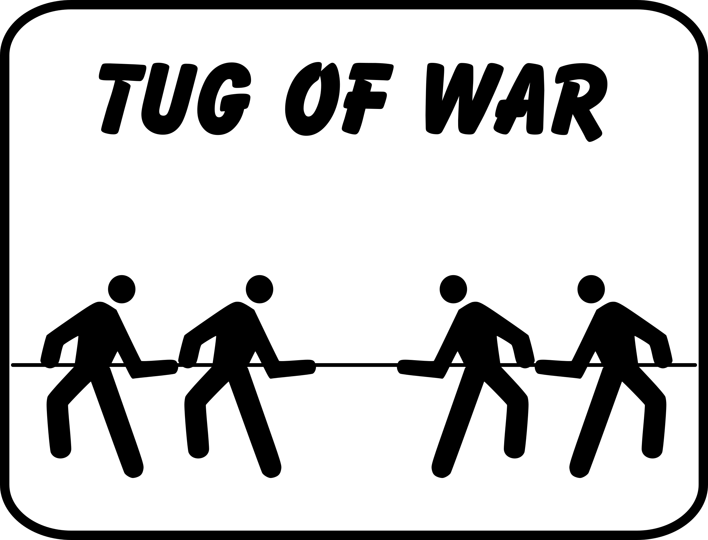 tug of war sign by pjsvbfcm
