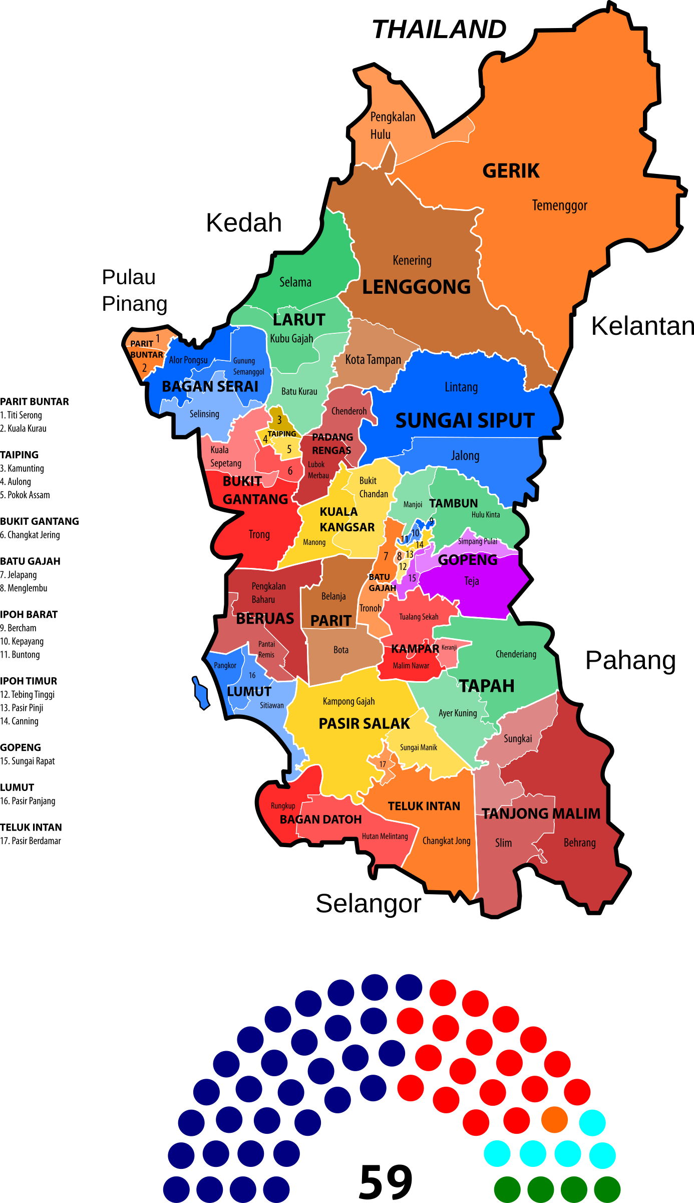 Perak State Legislative Assembly Constituencies by derkommander0916
