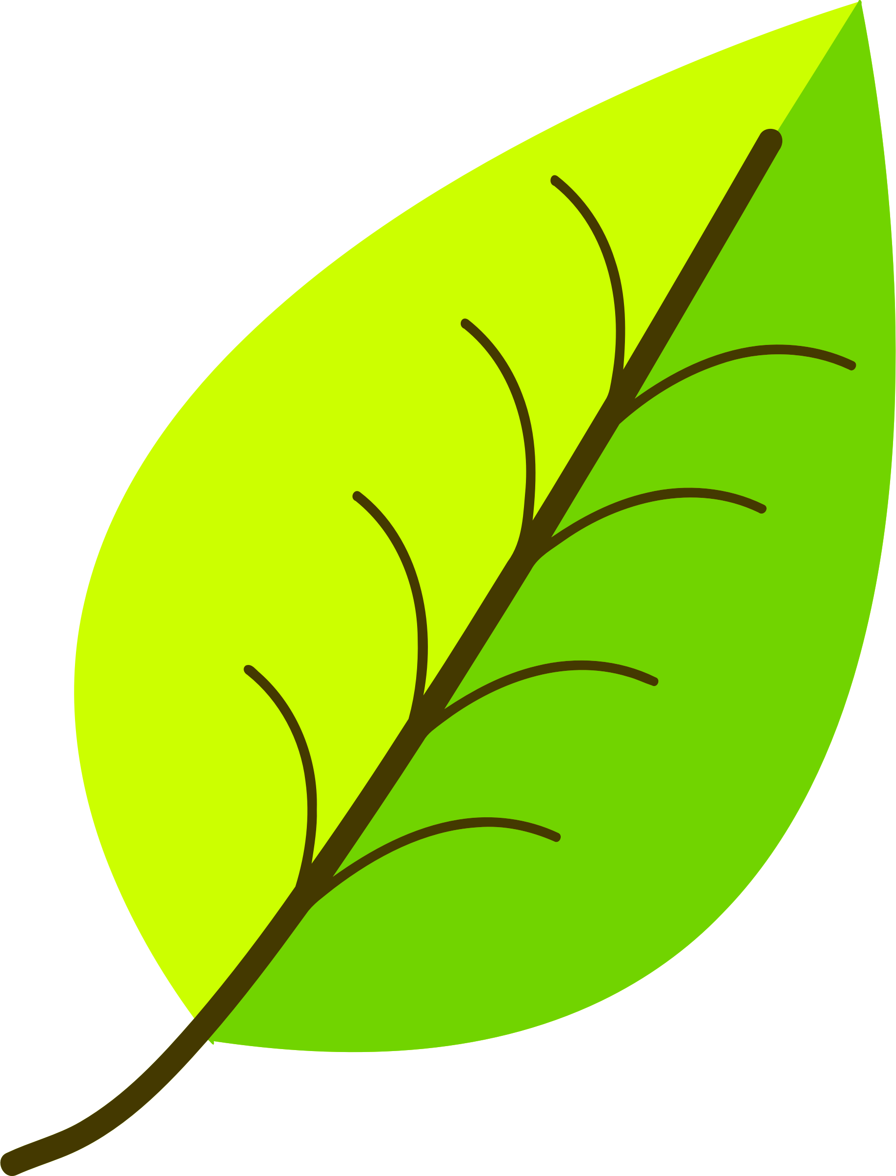 Two colour leaf vectorized by Firkin