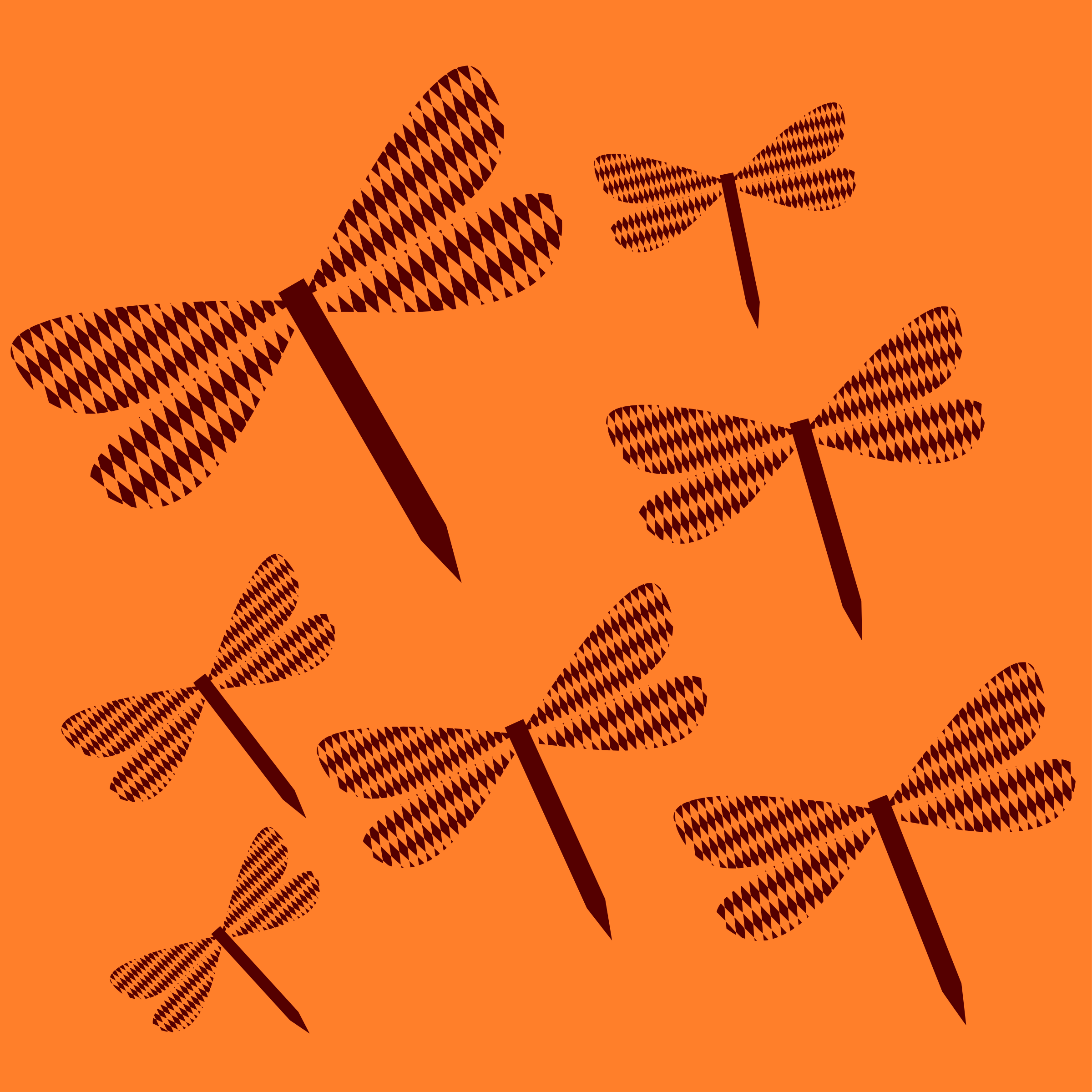 Dragonflies vectorized by Firkin