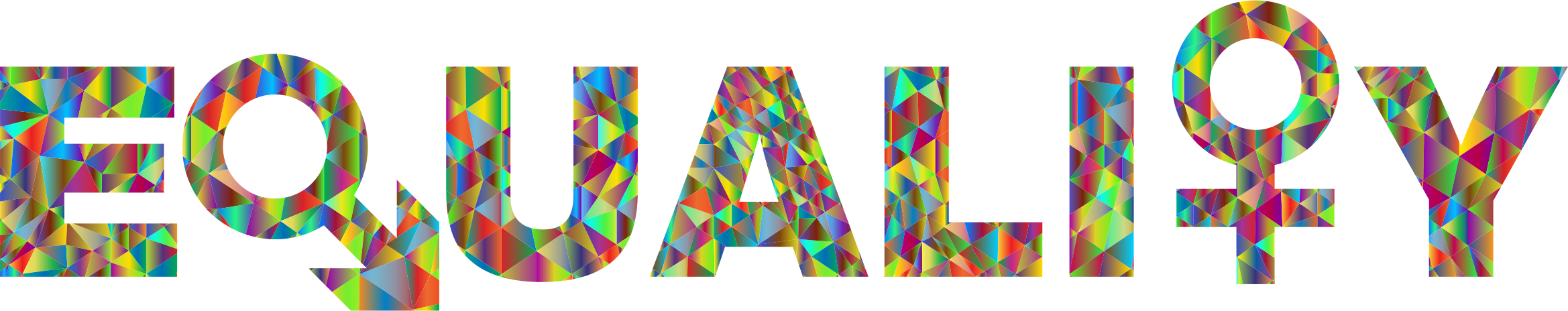 Low Poly Chromatic Gender Equality Typography by GDJ