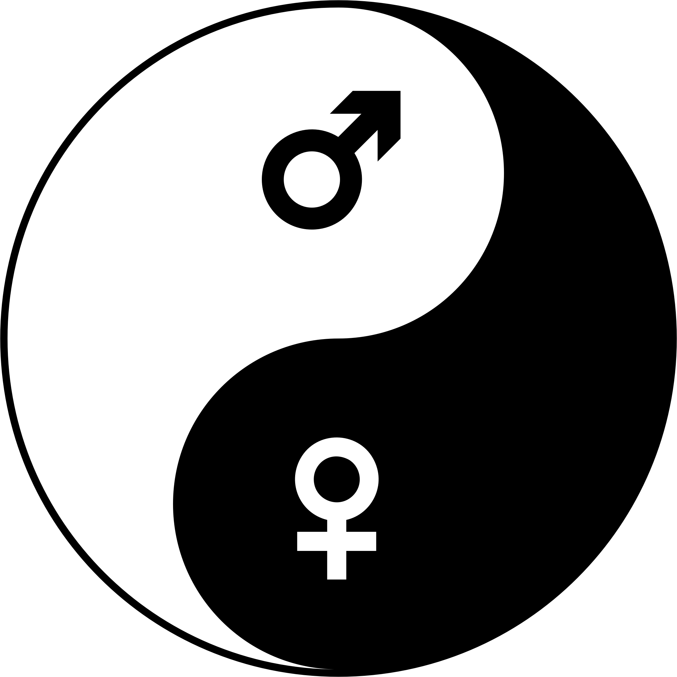 Clipart Female And Male Symbols Yin Yang