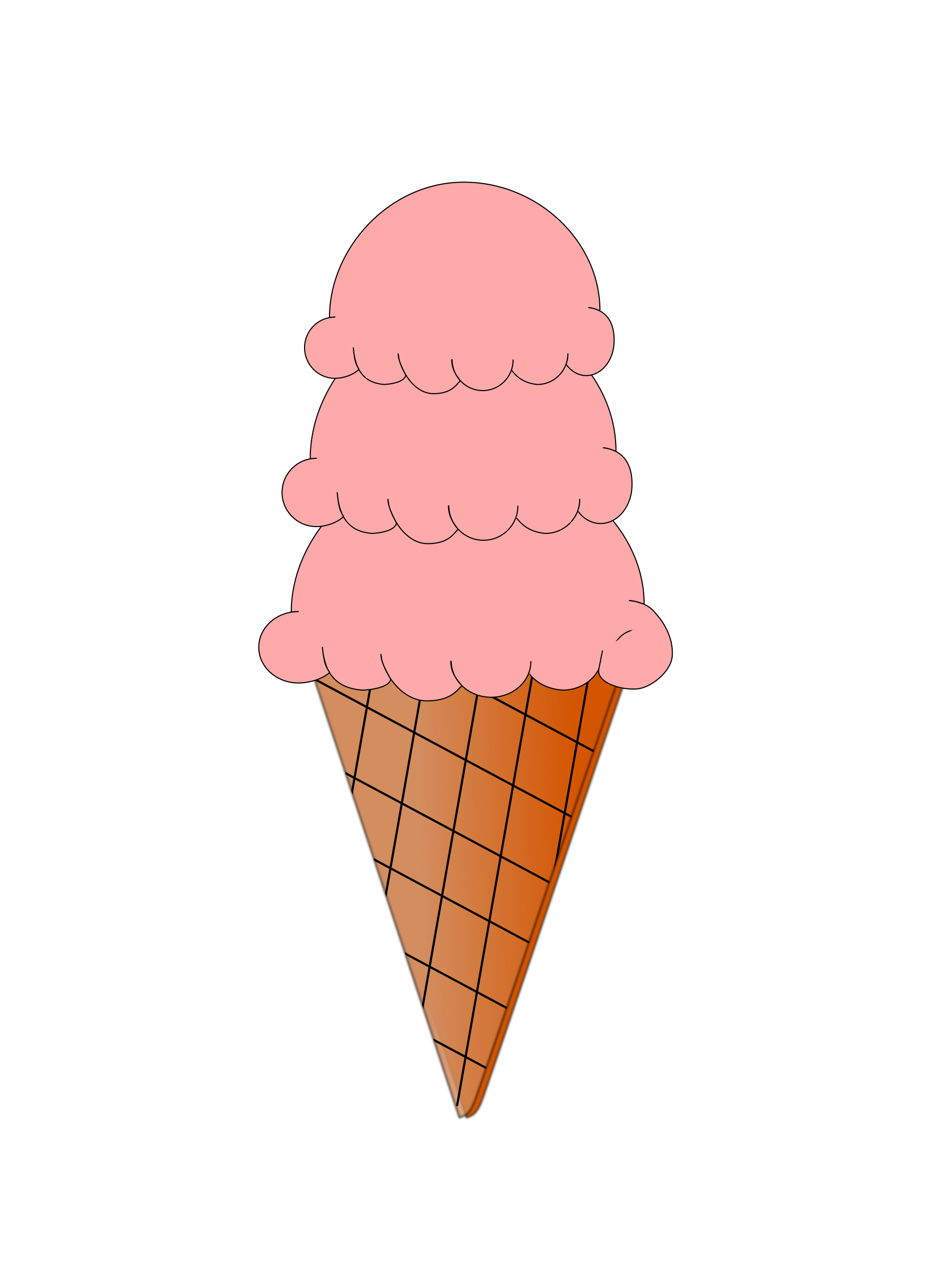 Ice Cream and Sugar Cone Animation by aukipa