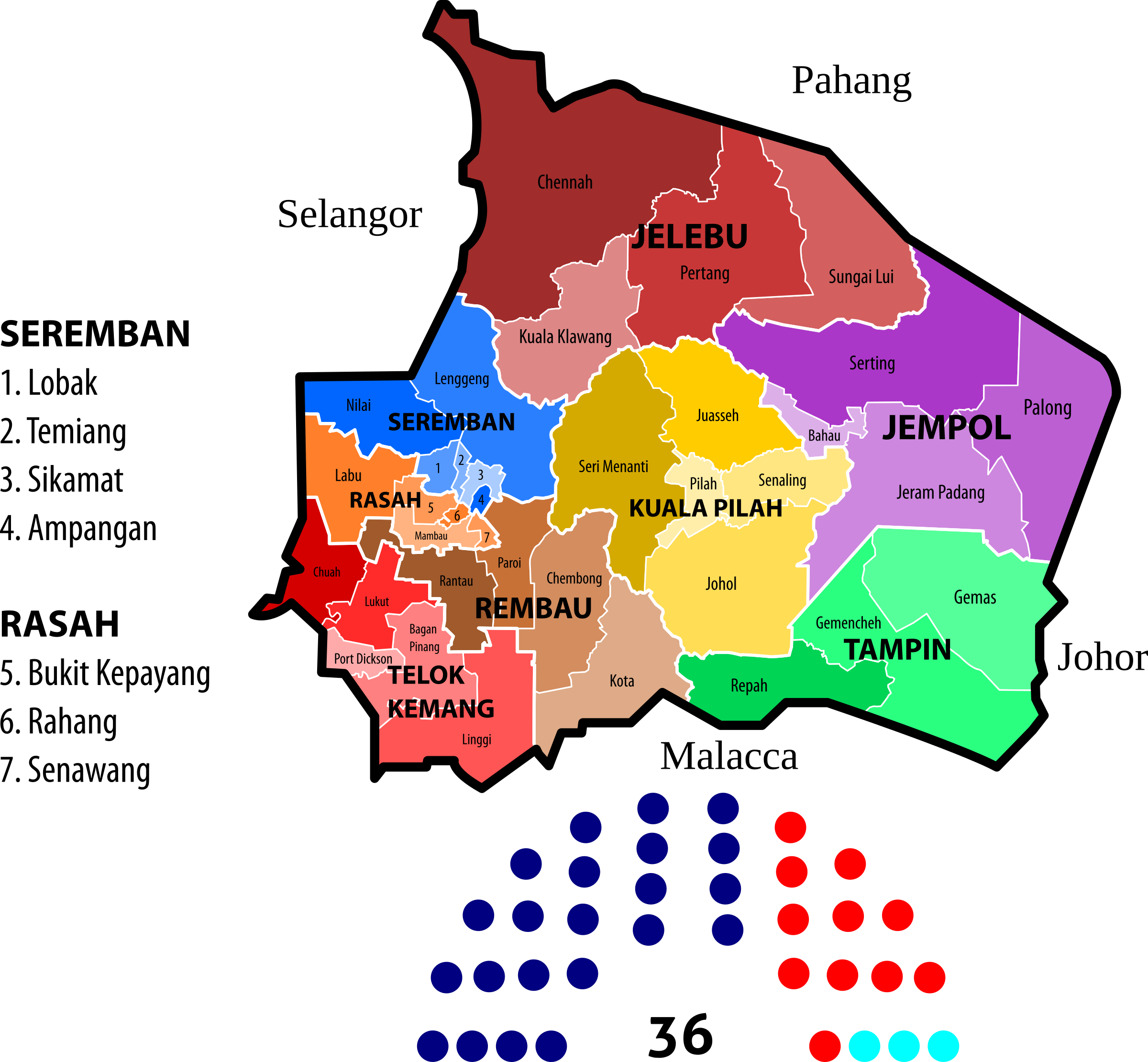 Negeri Sembilan State Legislative Assembly Constituencies (2013) by derkommander0916