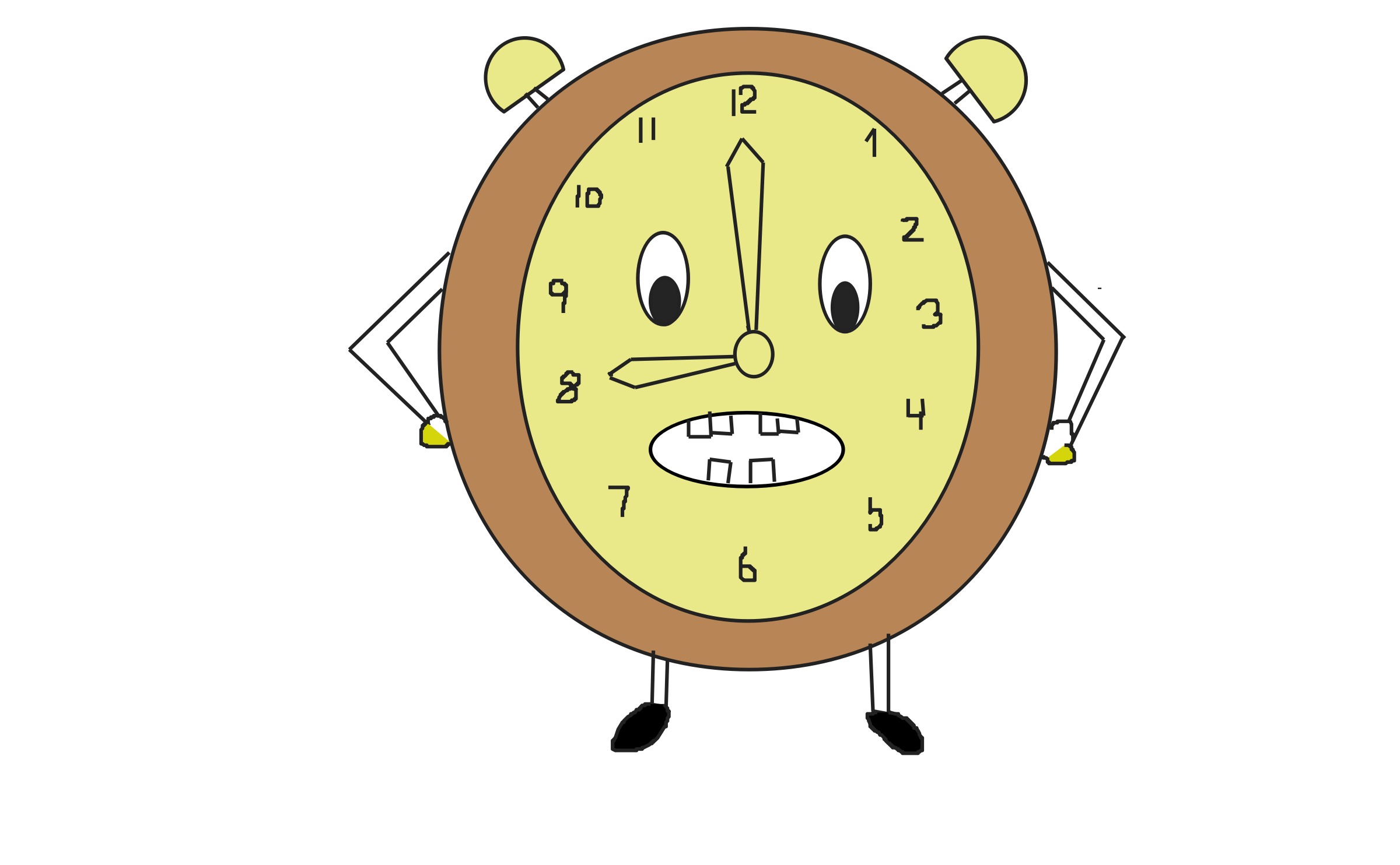 funny clock by DimpleMathew