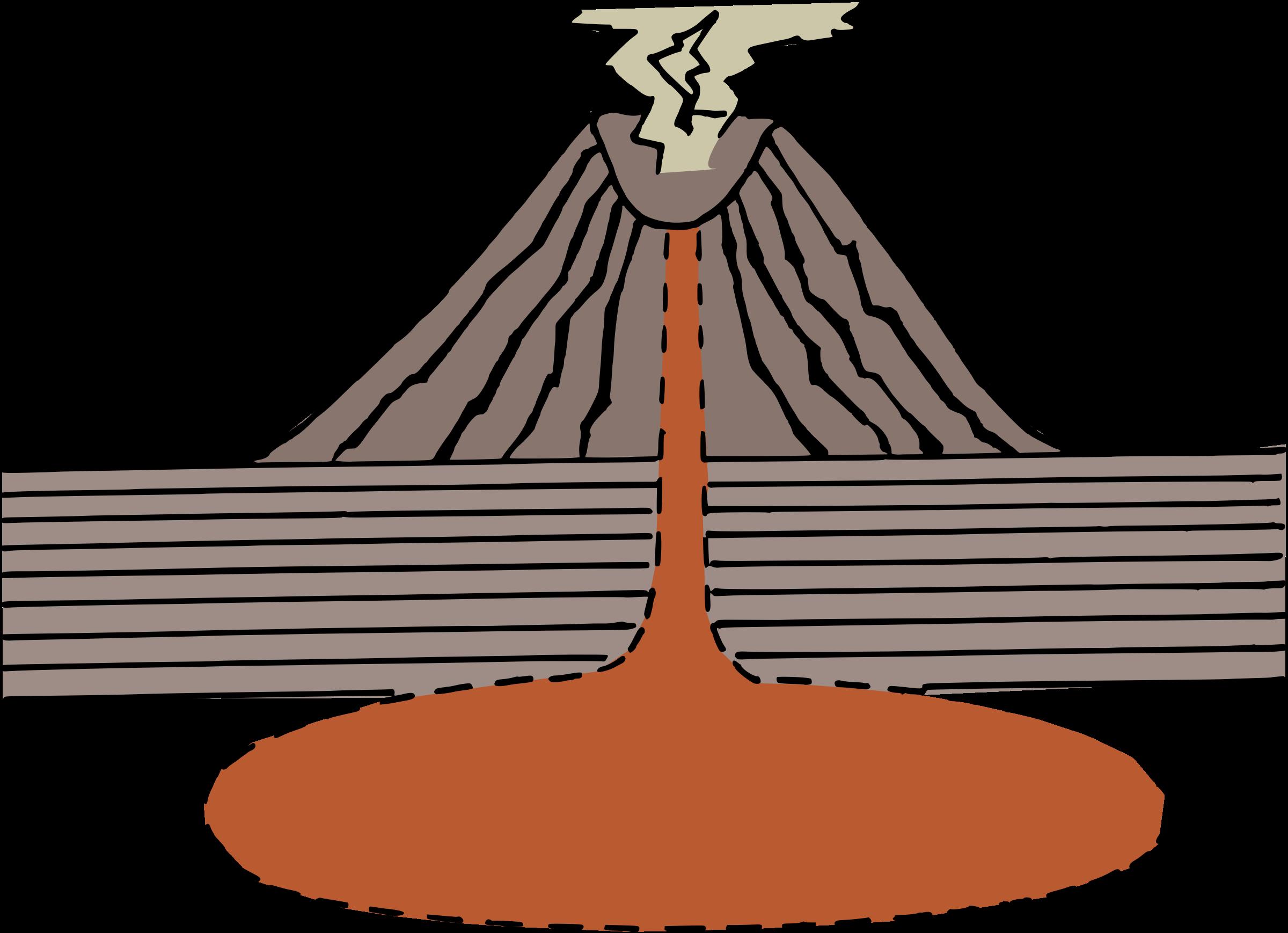 Clipart volcano diagram volcano diagram ccuart Images