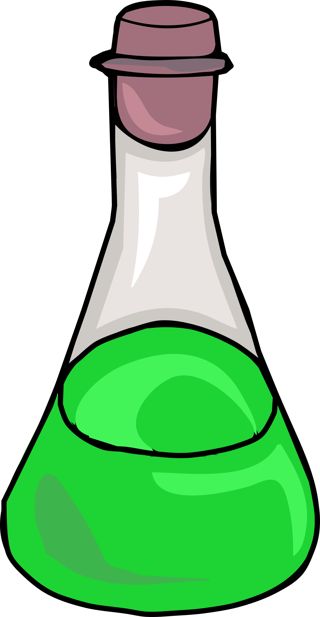 Green Science Bottle by j4p4n