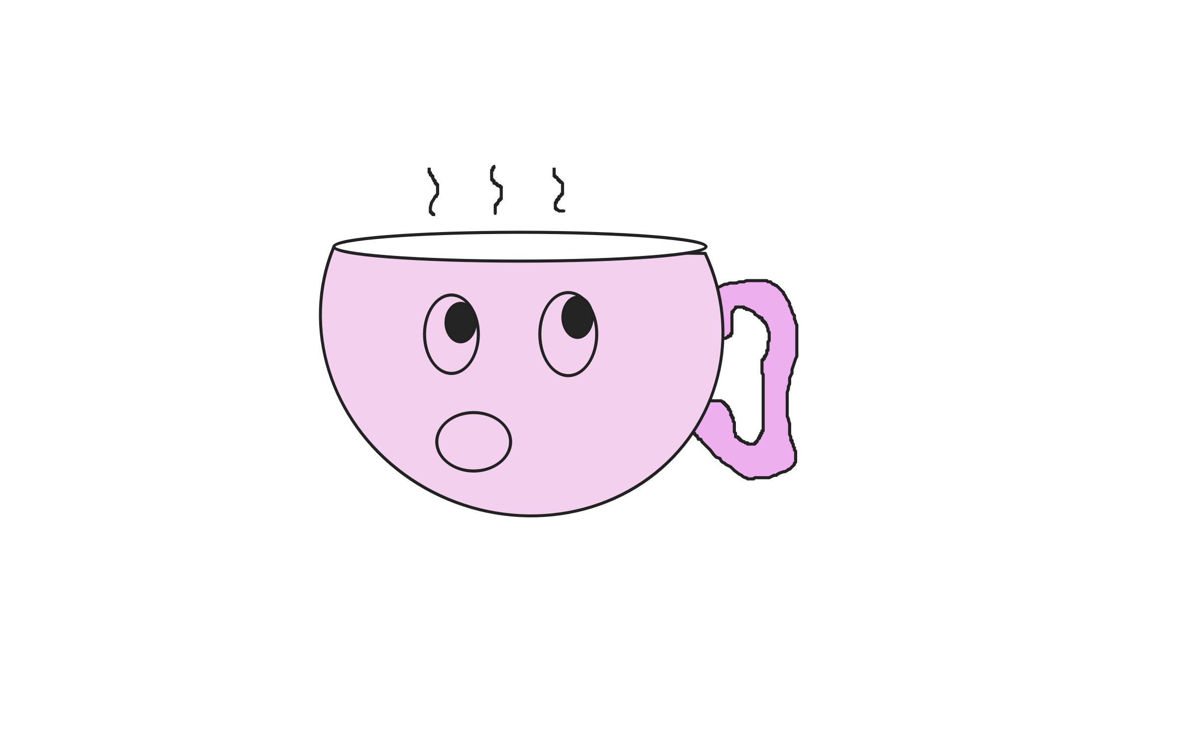 Cute teacup by DimpleMathew