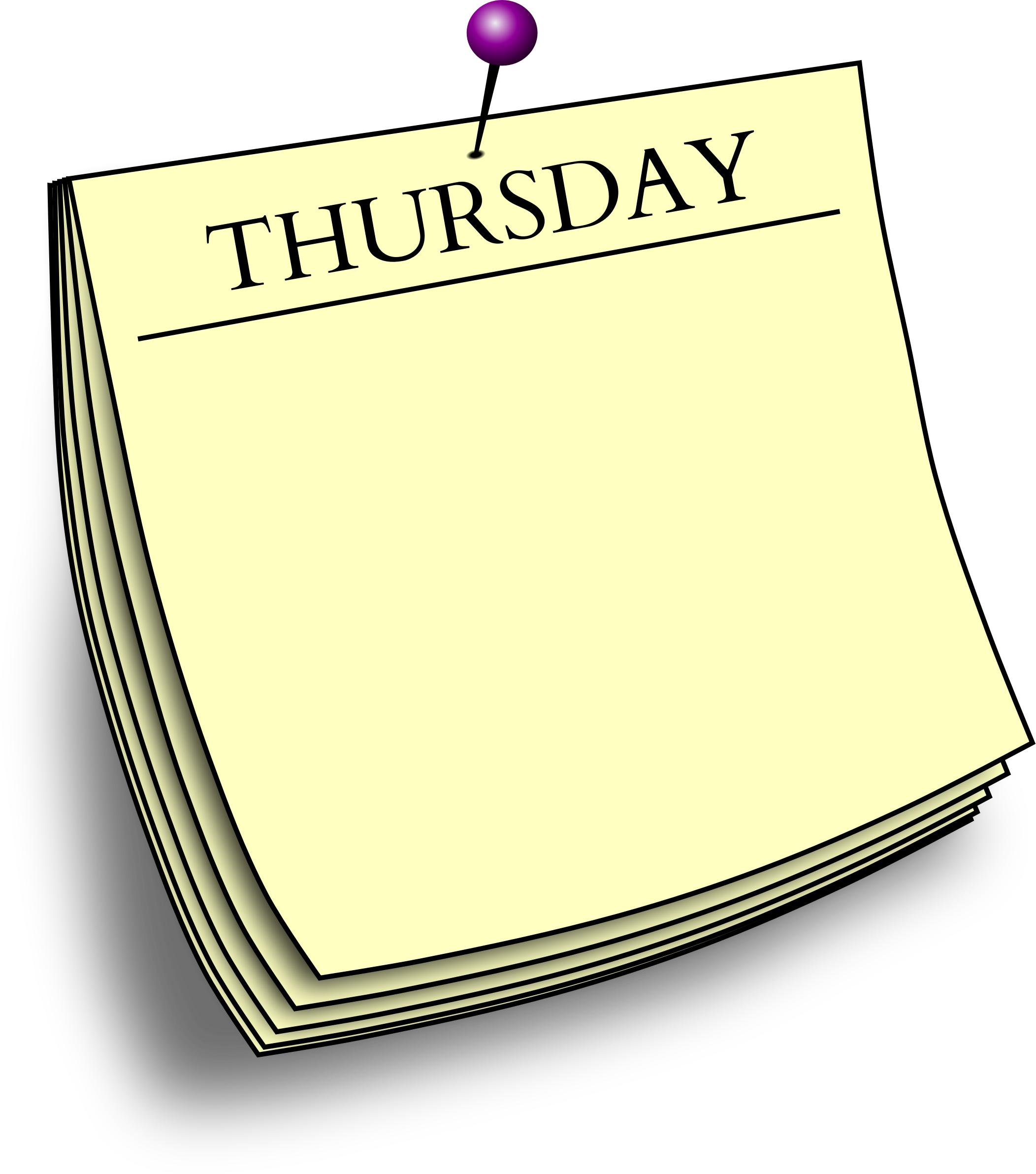 Clipart Daily Note Thursday